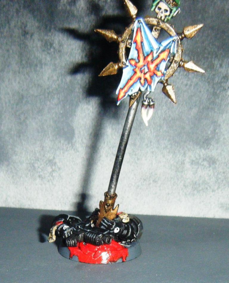 Banner, Bannière, Black Templars, Blood, Conversion, Marqueur D'objoectif, Objective Marker, Sang