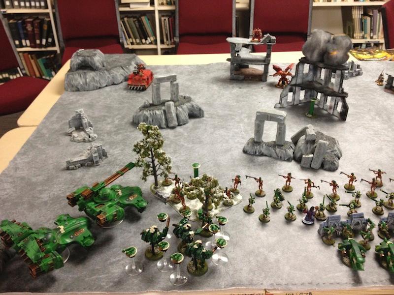 Battle Report, Chaos Space Marines, Tau, Warhammer 40,000