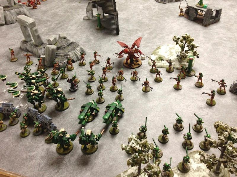 Battle Report, Chaos Space Marines, Tau, Warhammer 40,000