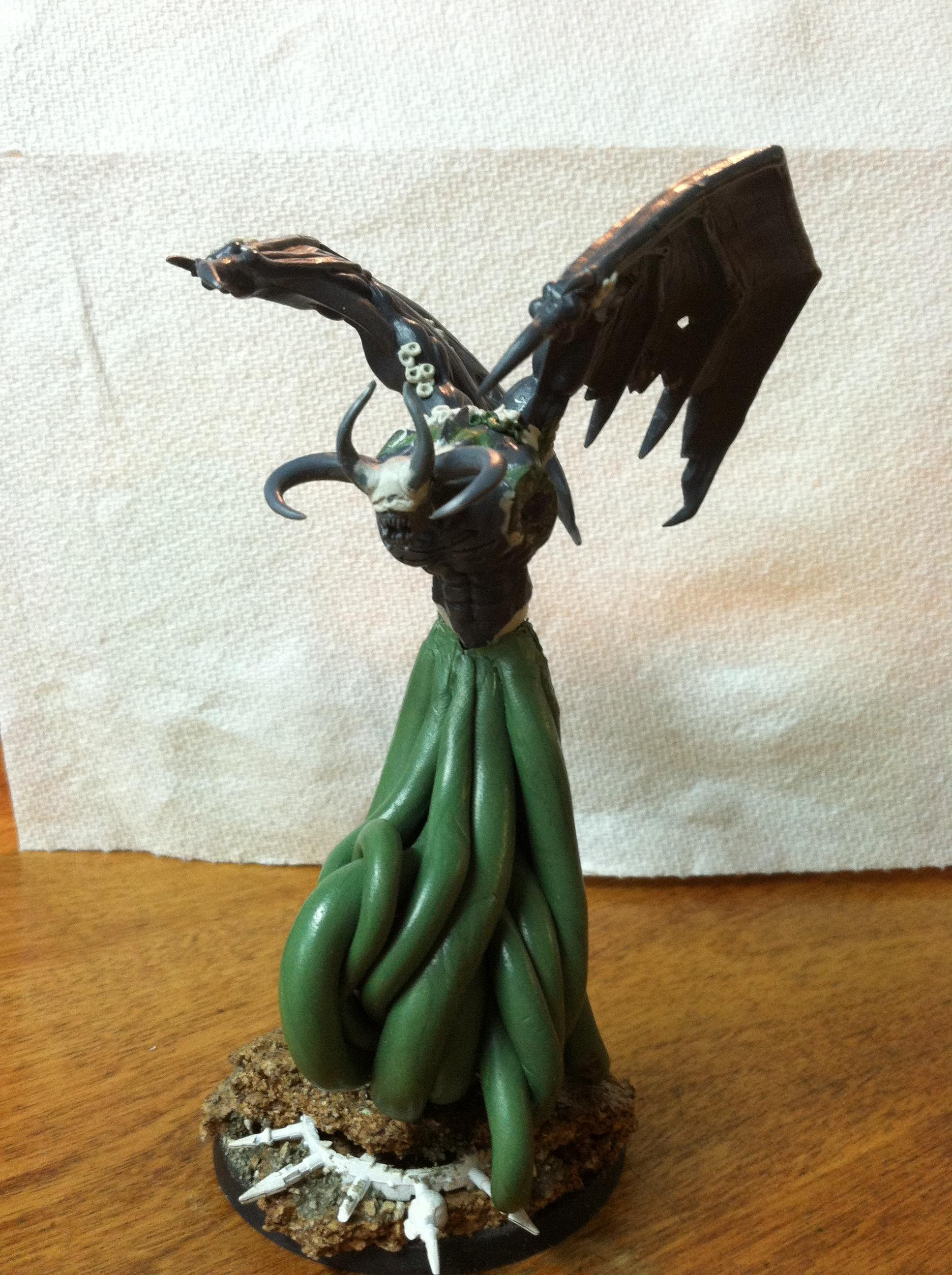 Cool, Custom Build, Daemons, Flying, Greenstuff, Prince, Tentacle, Warhammer 40,000, Winged, Work In Progress