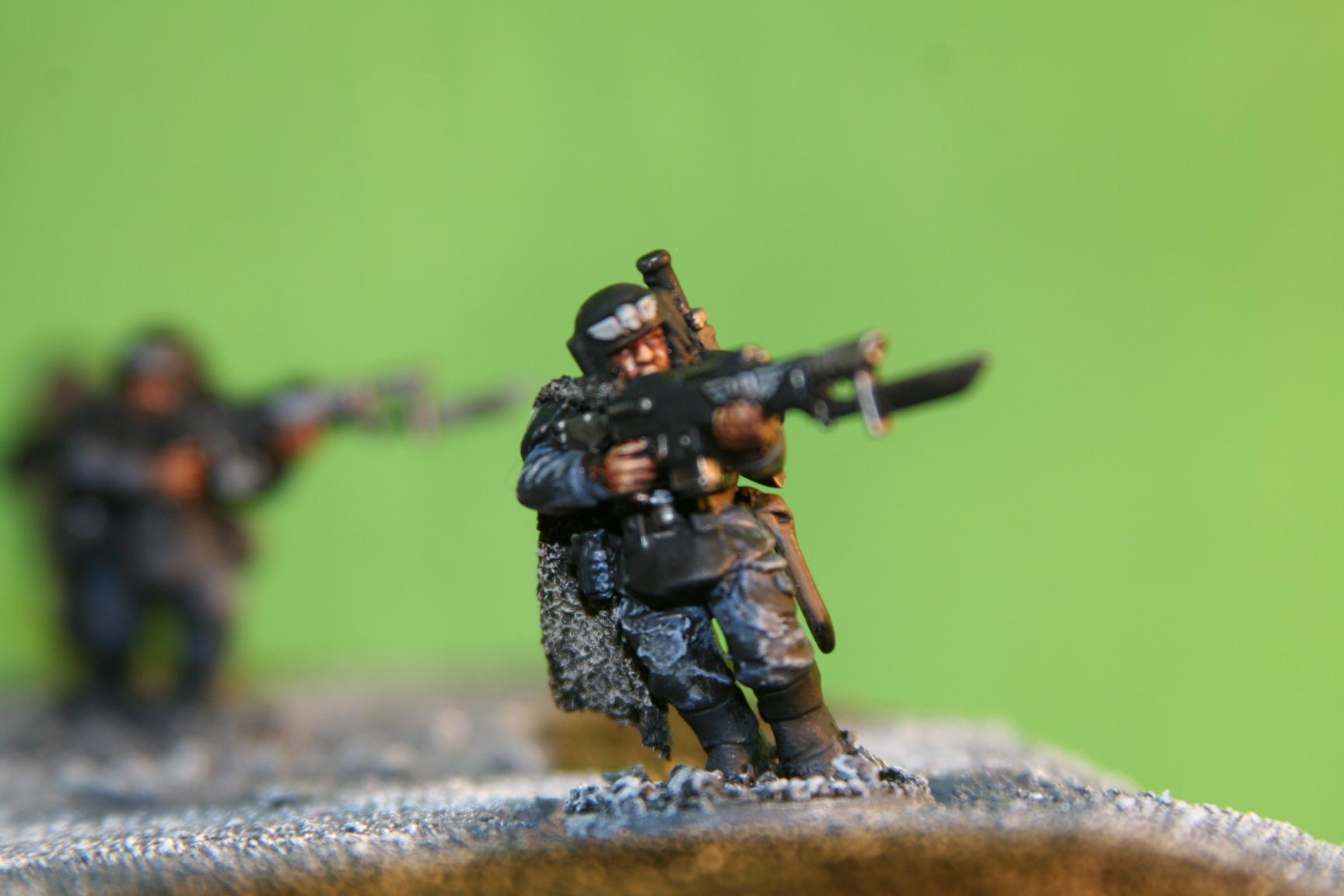 Guardsman keeping an eye out while on the move