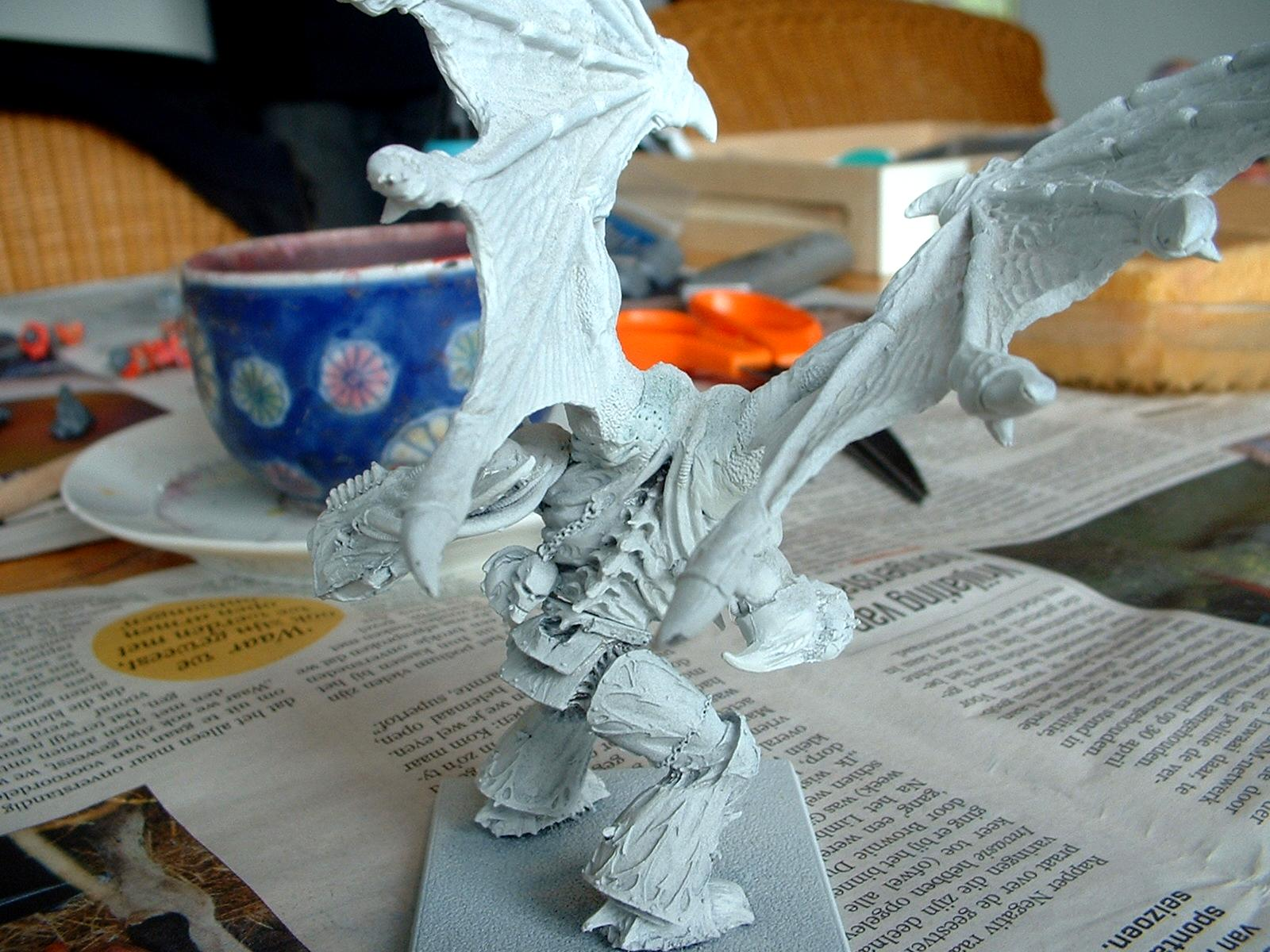 Daemon Prince, Daemons, Khorne, Primered, Work In Progress