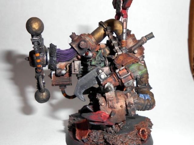Big Mek, Bigmek, Blood Axe, Camouflage, Conversion, Greenskin, Kit-bashed, Kitbash, Konversion, Mekboy, Orcs, Orks, Pk, Power Klaw, Sag, Shokk Attack, Space Orks, Waaagh, Warboss, Warhammer 40,000