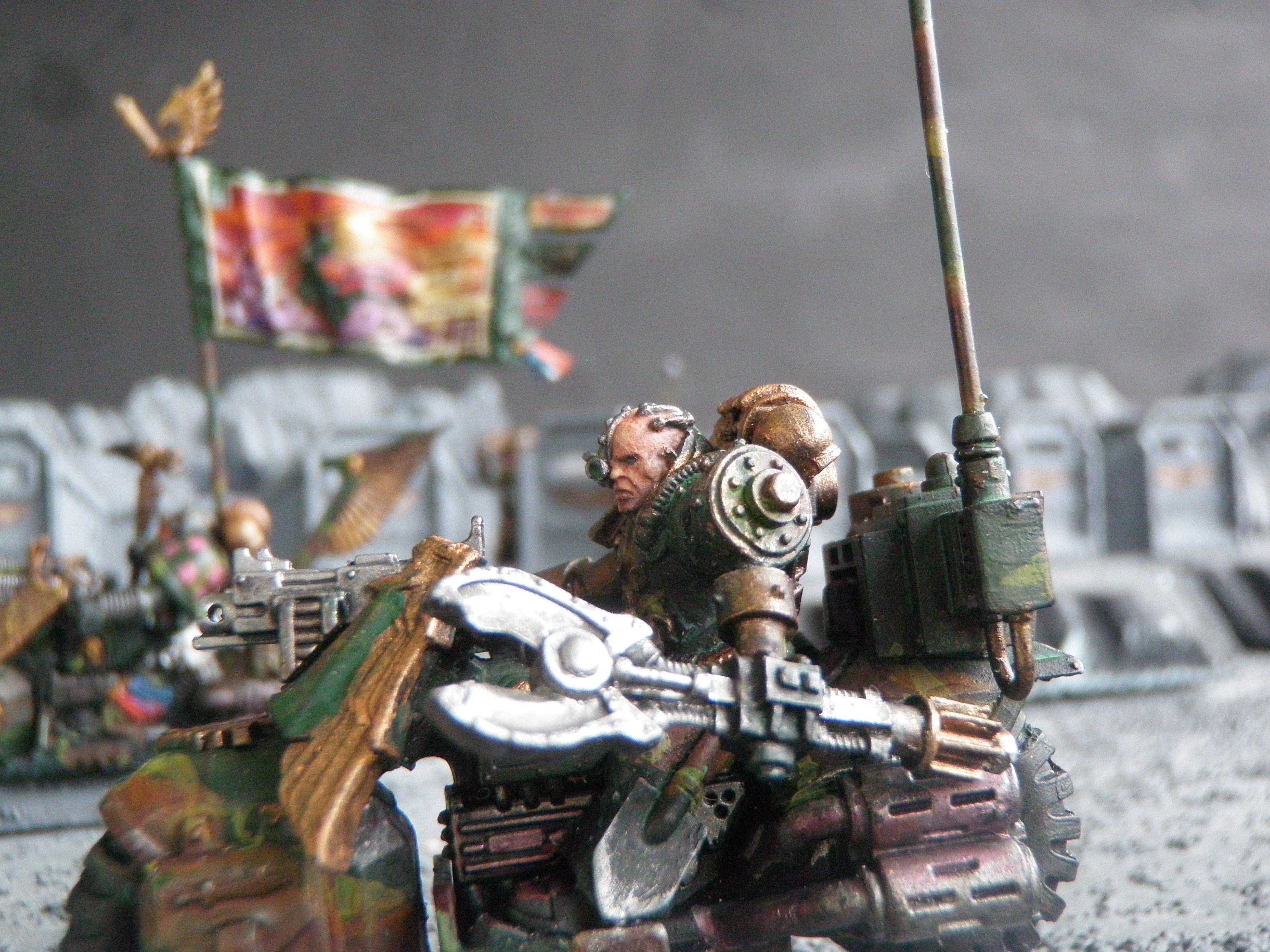 Bike, Camouflage, Dakr Angels, Servo Arm, Techmarine