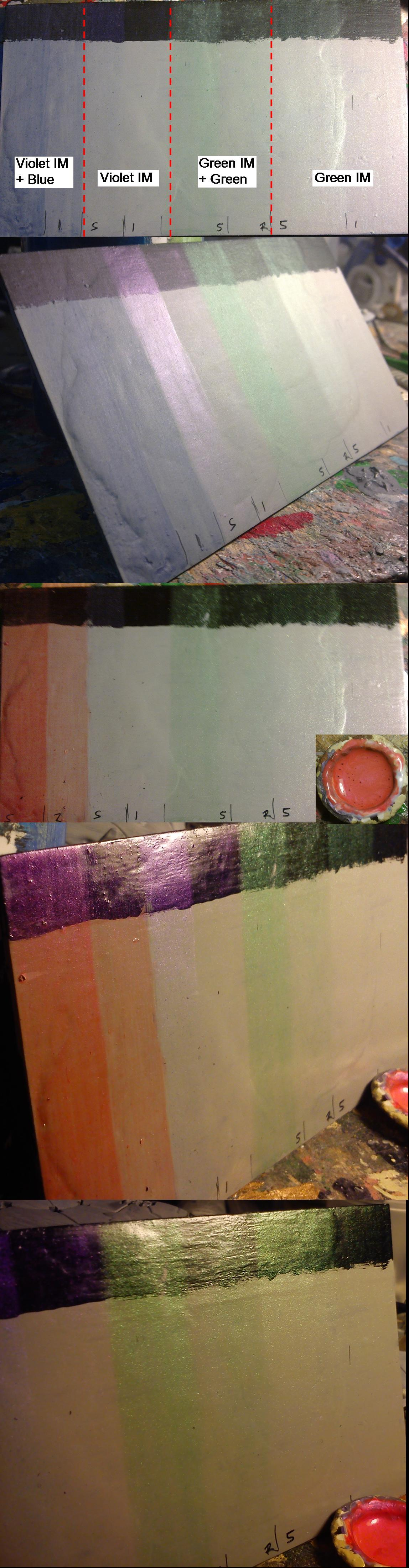Interference paint layer test