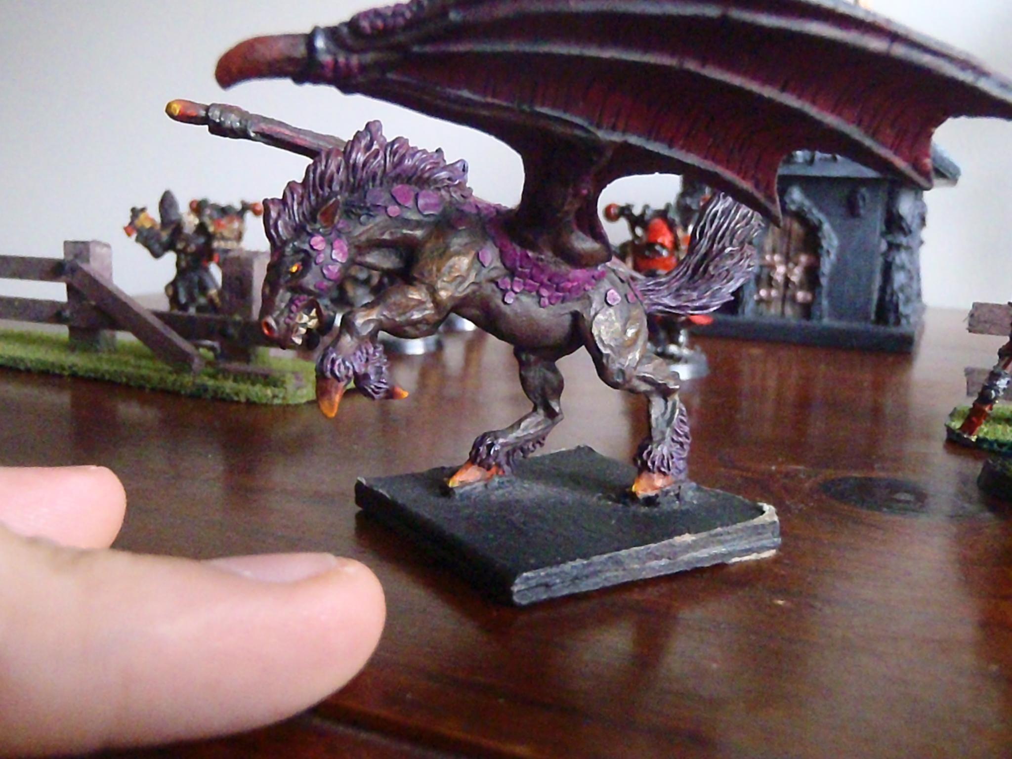 Creature, Daemons, Dark Pegasus, Horse