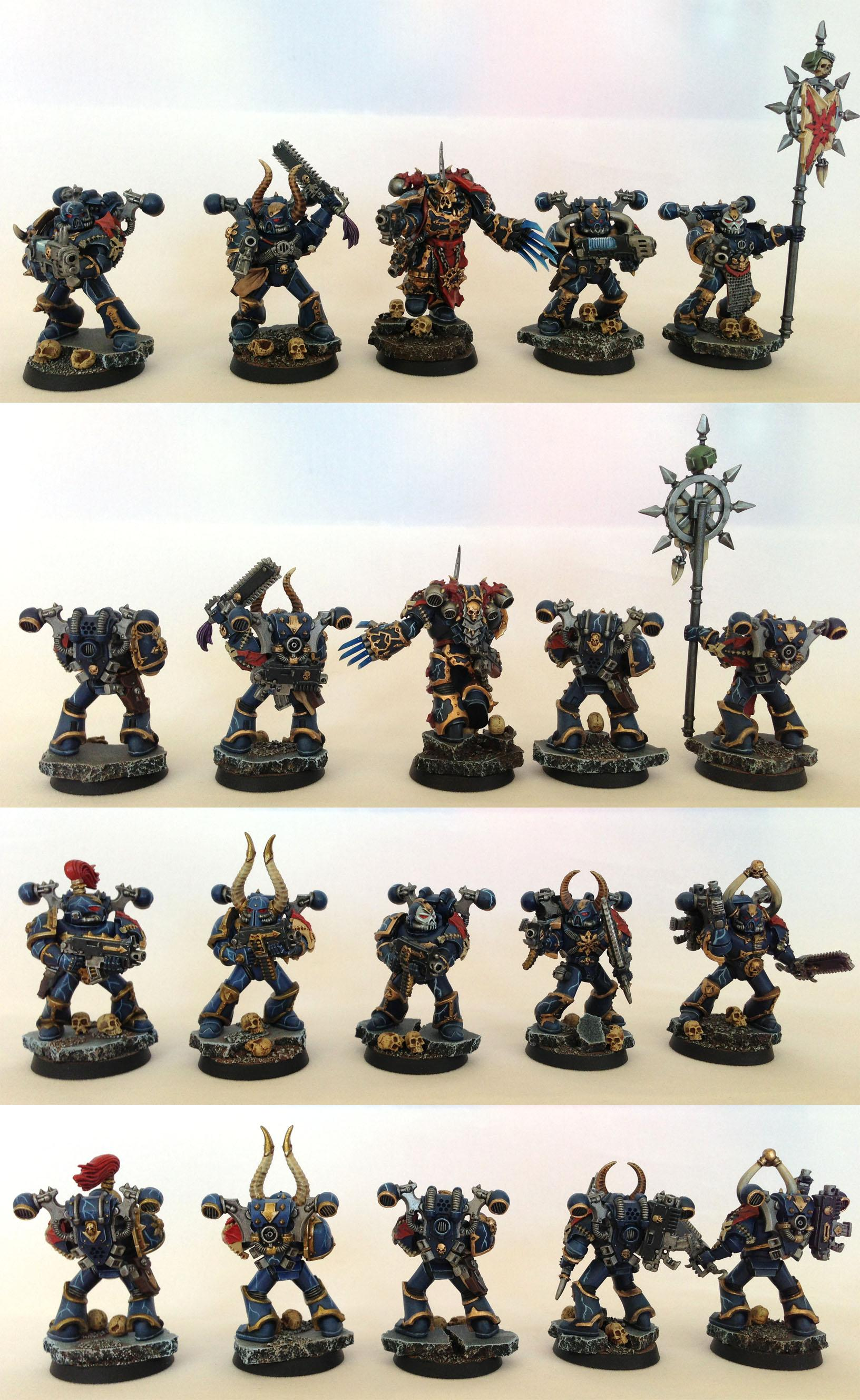Bolt Pistol, Bolters, Chainsword, Chaos Space Marines, Icon, Lightning Claw, Night Lords, Plasma Gun