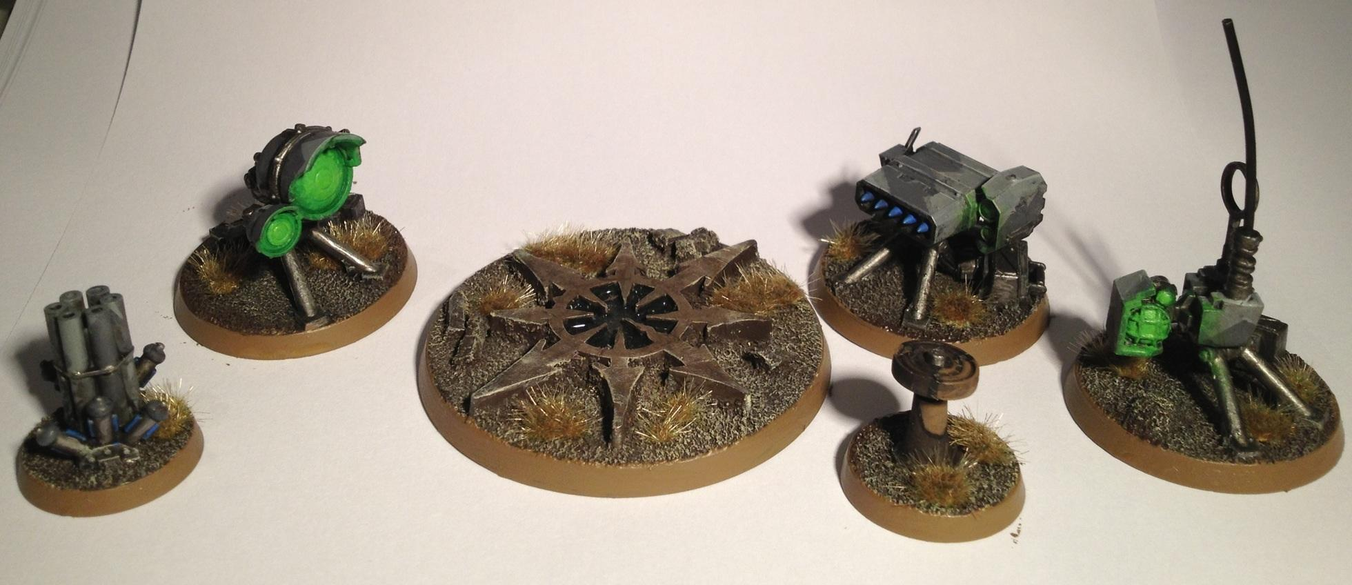 Chaos, Heavy Weapon, Icon, Imprrial Guard, Missile Launcher, Objective Marker, Search Light, Tau, Tripod, Warhammer 40,000