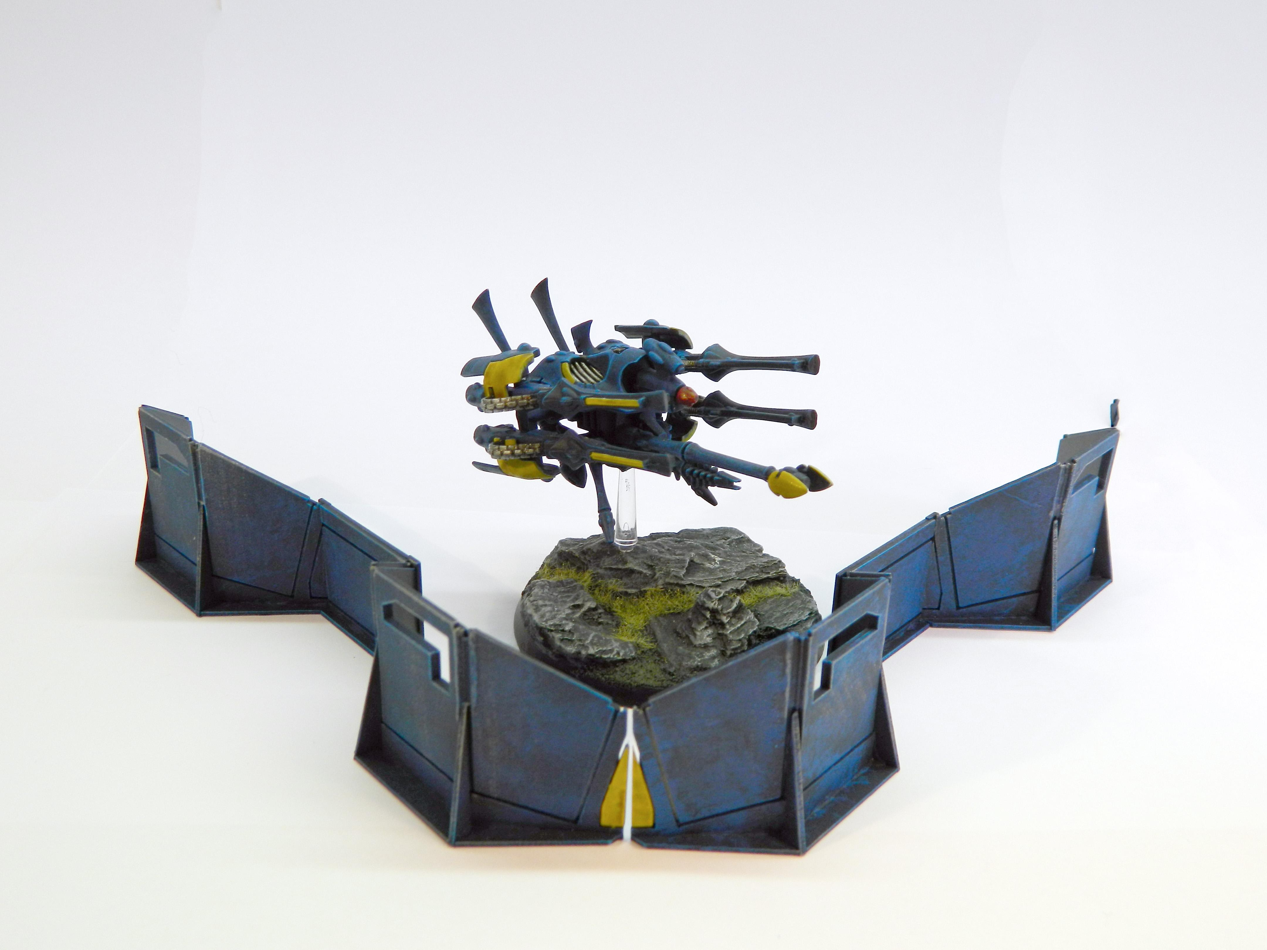 Aegis Defence Line, Eldar, Quad Cannon, Scratch Build, War Walker, Warhammer 40,000
