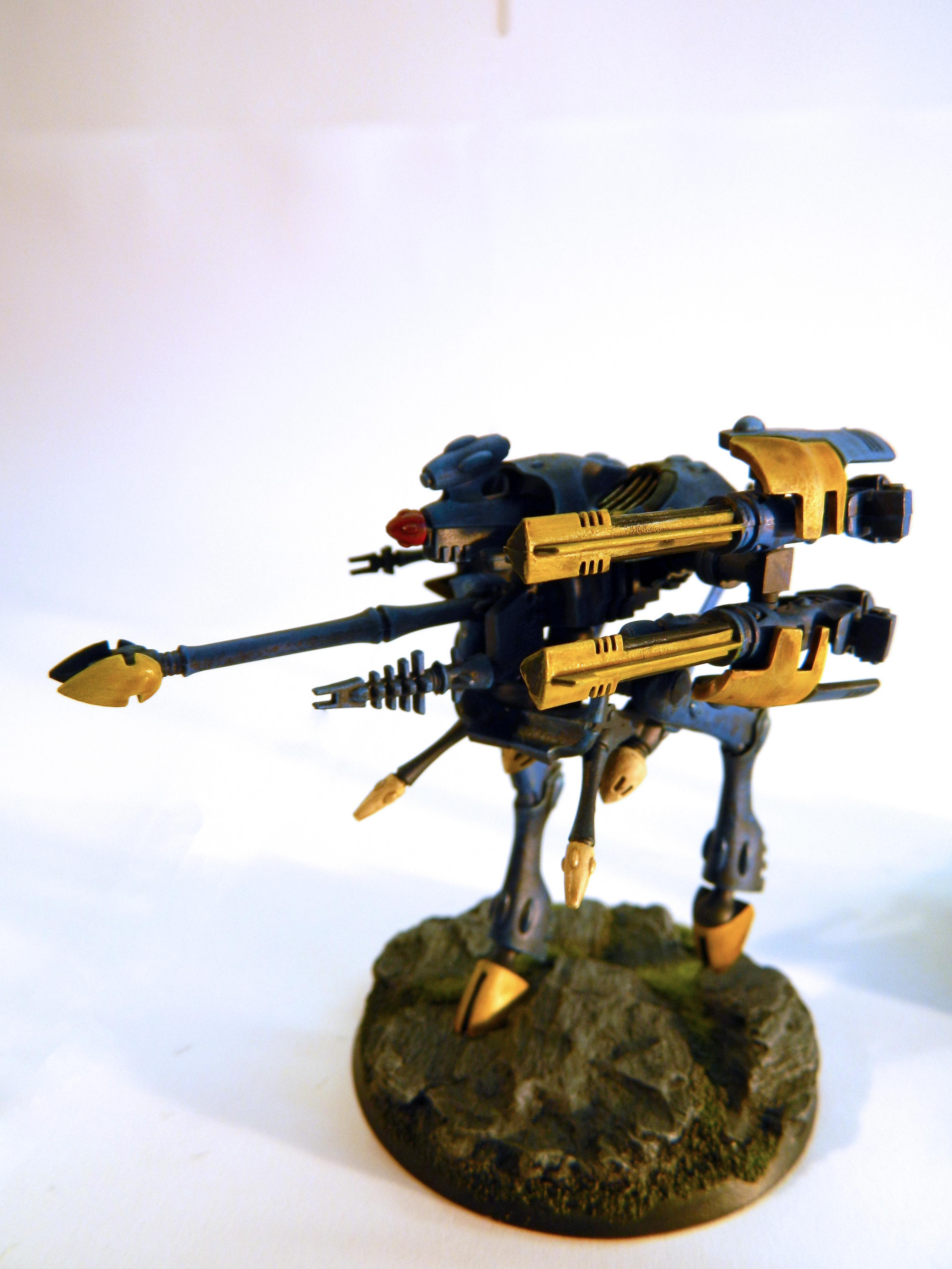 Aegis Defence Line, Eldar, Quad Cannon, Scratch Build, War Walker, Warhammer 40,000