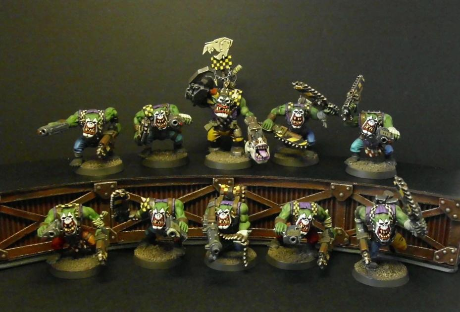 Boy, Clown Faces, Goffs, Mob, Orks