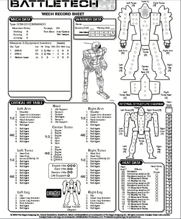 Mechwarrior 3rd Edition Pdf
