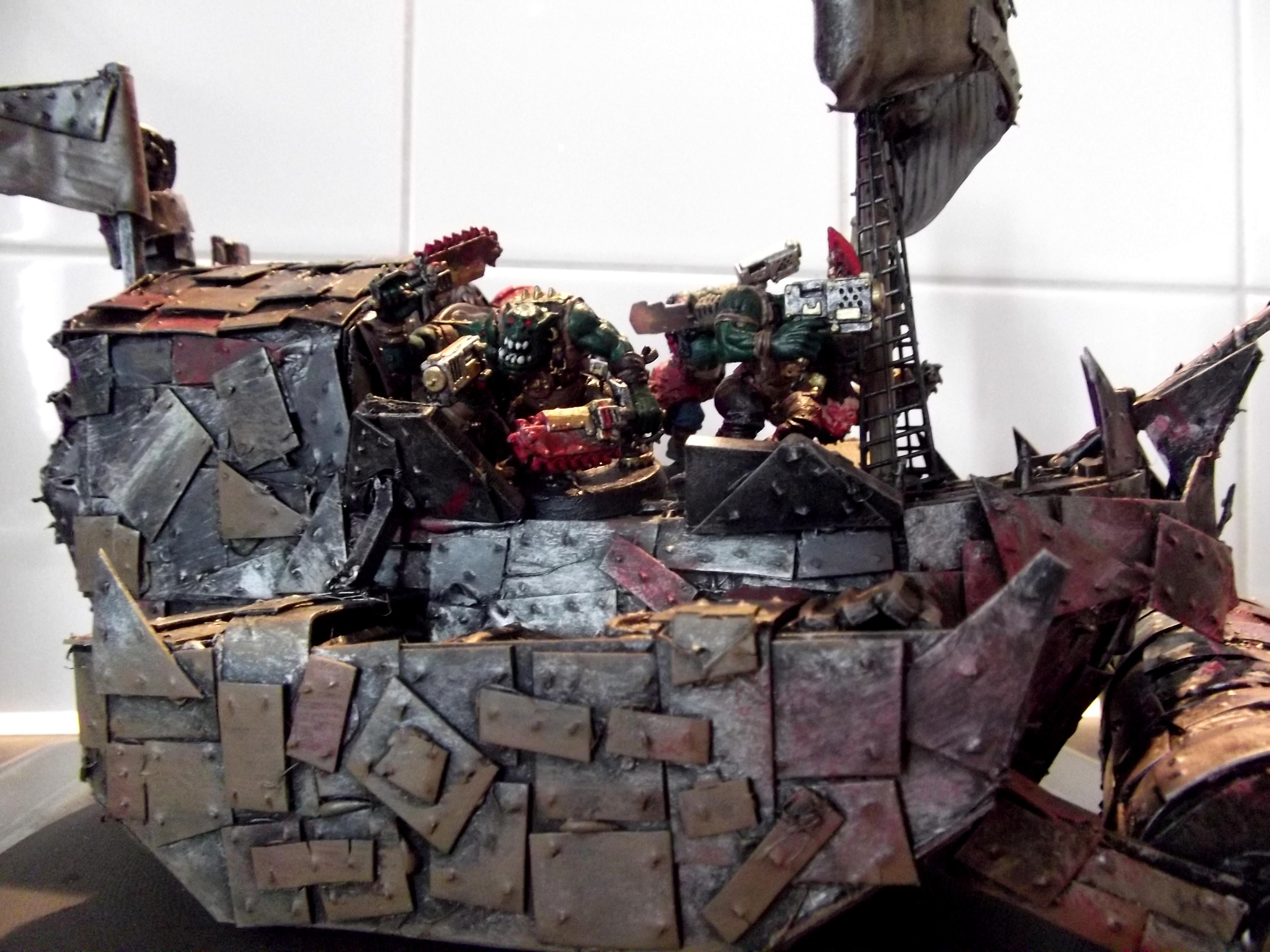 Battlewagon, Conversion, Deffrolla, Freebooter, Looted, Orky, Pirate Freeboota, Scratch Build, Ship