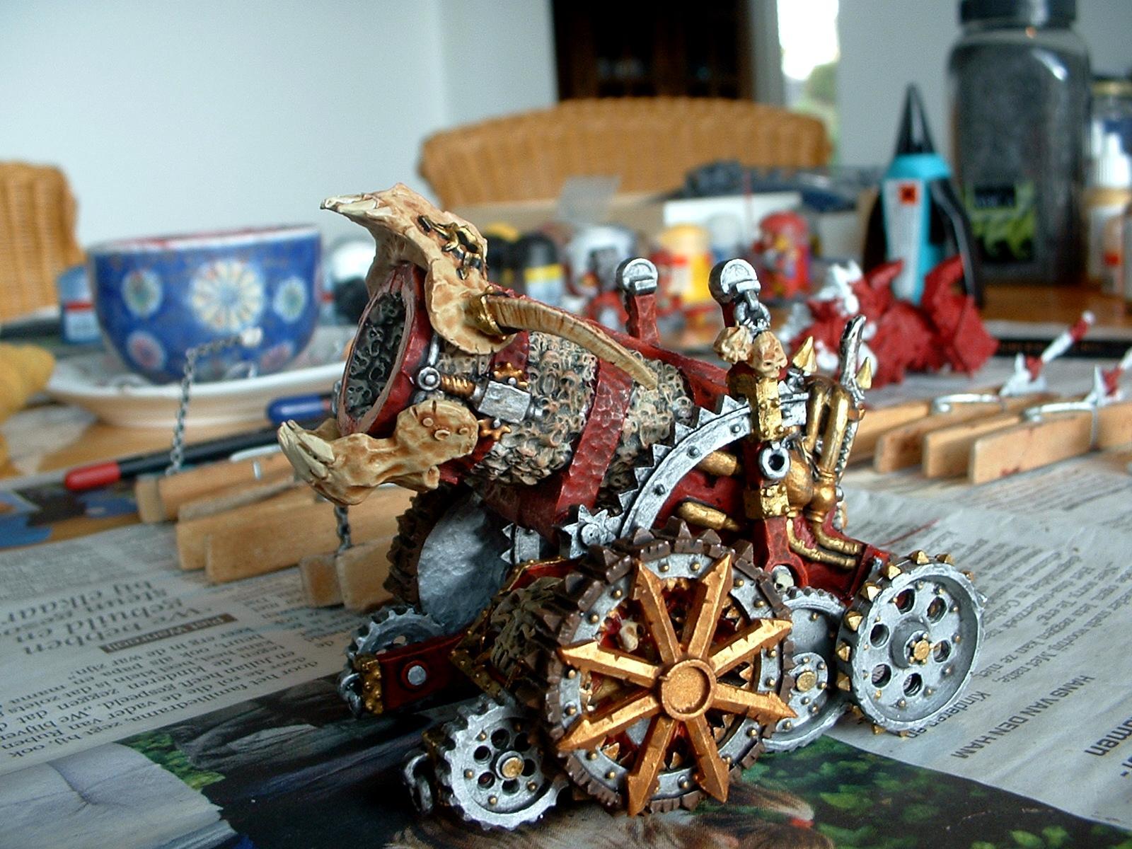 Daemons, Hellcannon, Khorne, Skullcannon, Work In Progress