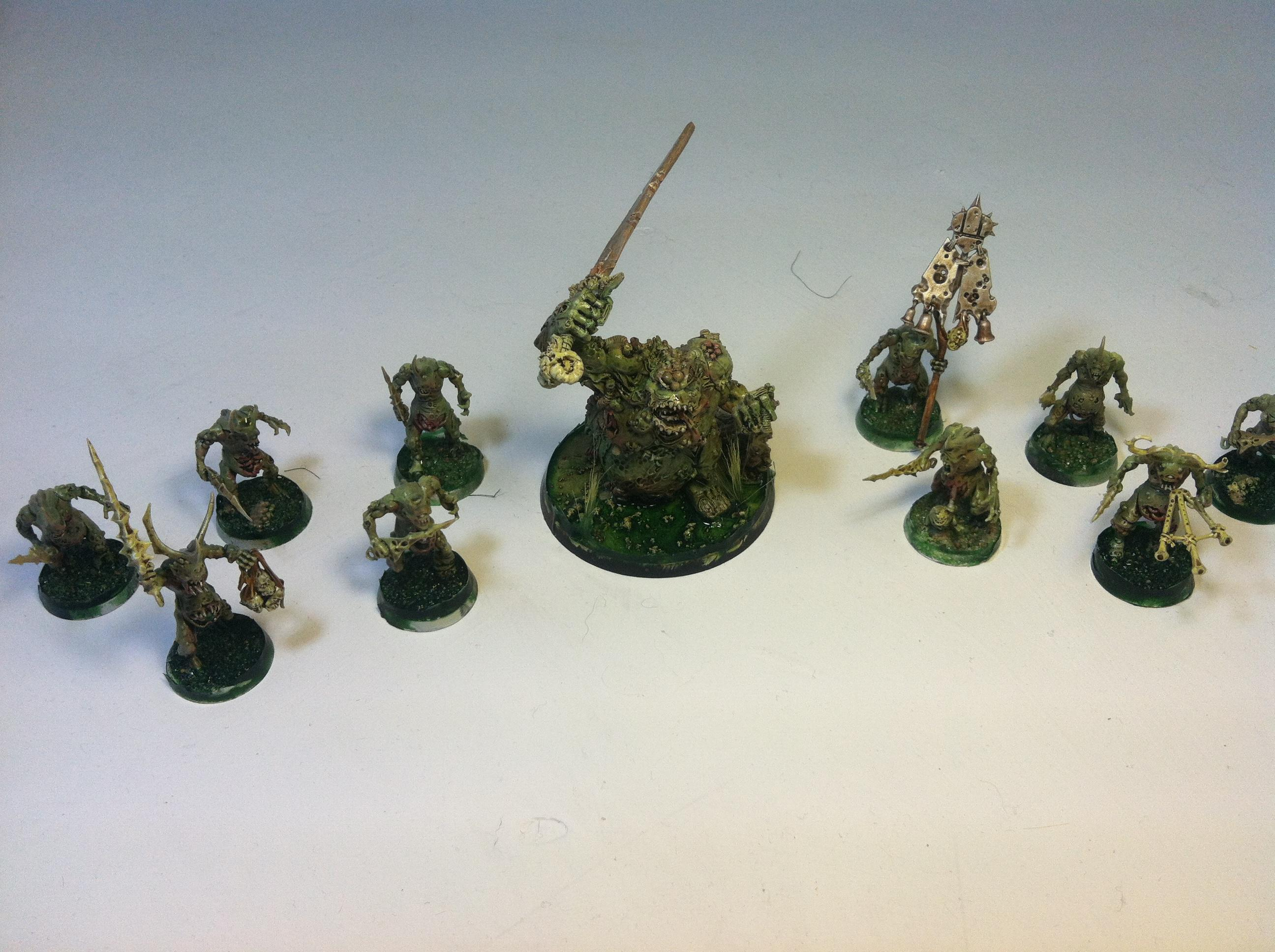 Airbrush, Chaos, Chaos Daemons, Great Unclean One, Nurgle, Plaguebearers