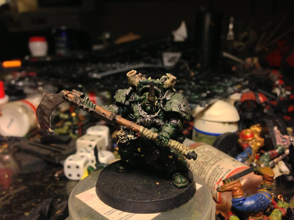Chaos, Chaos Space Marines, Lord, Nurgle, Typhus