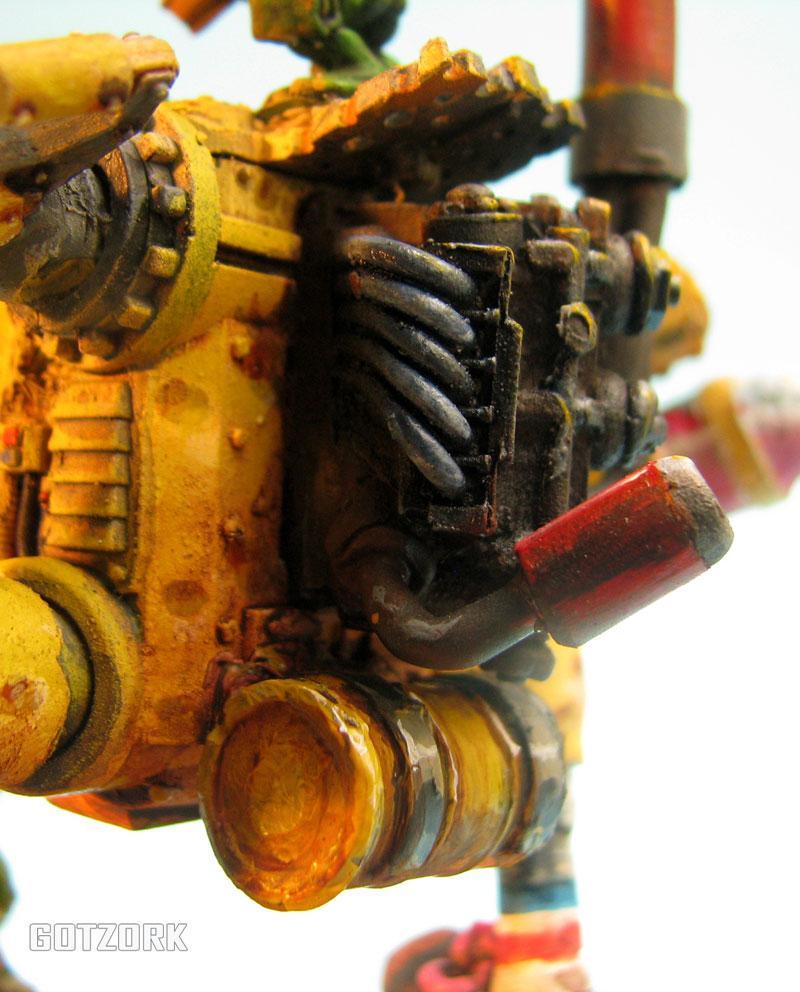 Conversion, Dreadnought, Gotzork, Humor, Killa Kans, Miniature, Orcs, Orks, Scratch Build, Warhammer40000, Wk40