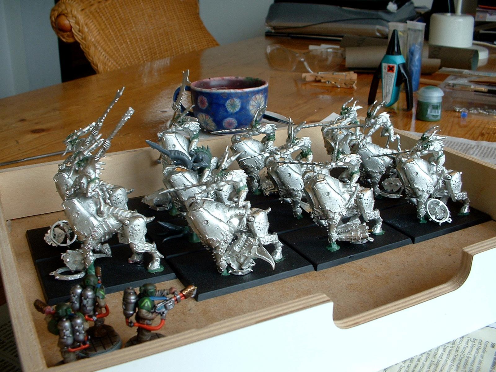 Bloodcrushers, Daemons, Greenstuff, Khorne, Metal, Work In Progress