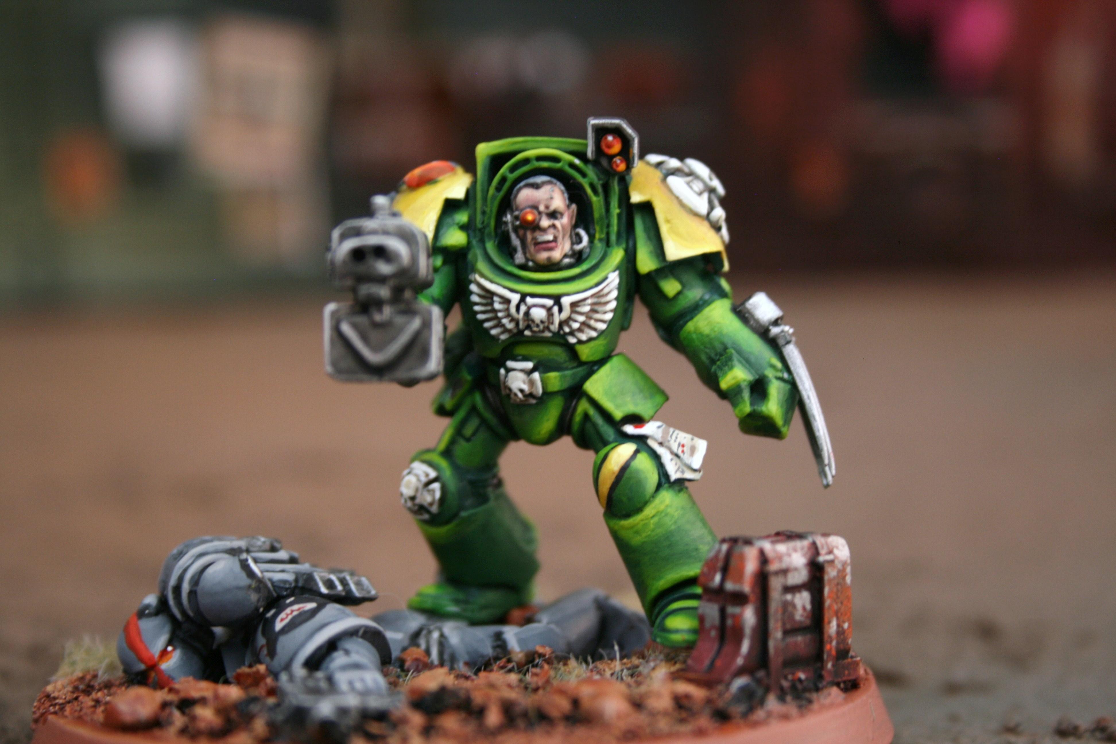 Badab, Green, Highlight, Mantis, Mantis Warrior, Terminator Armor