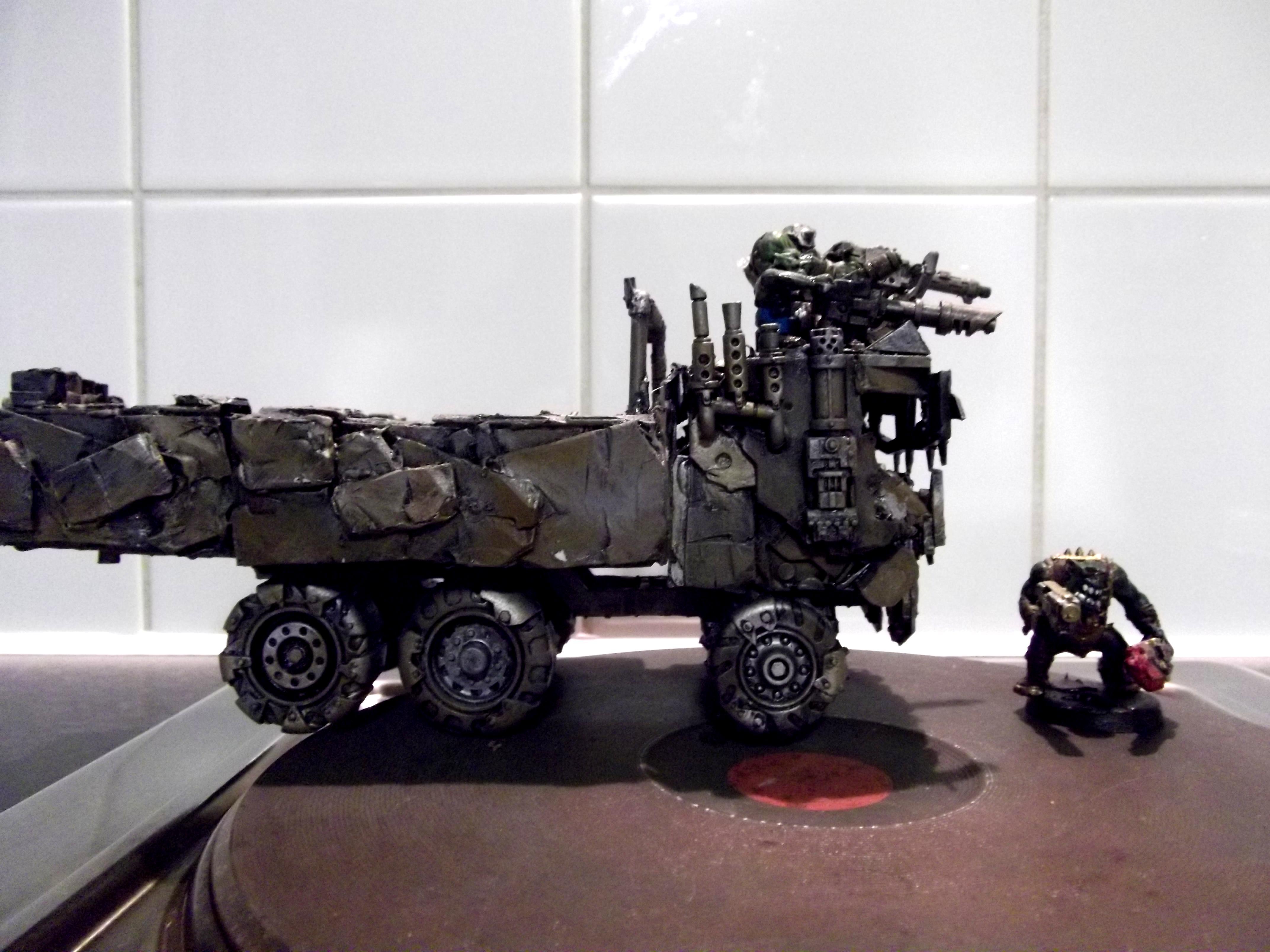 Battlewagon, Big Trakk, Conversion, Looted, Orks, Scratch Build, Wagon