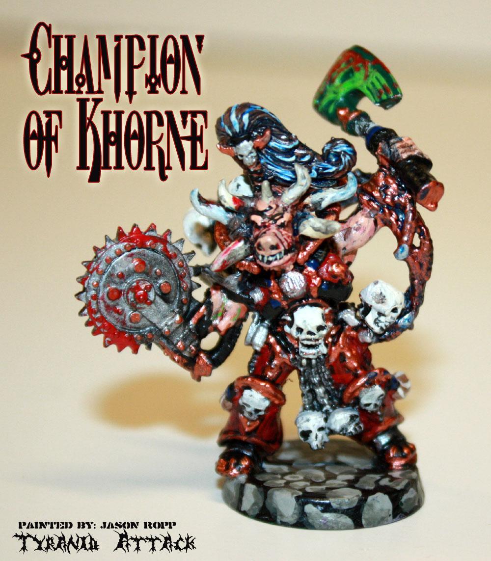 Champion, Chaos, Khorne, Lord, Space, Space Marines, Warhammer 40,000, Warhammer Fantasy