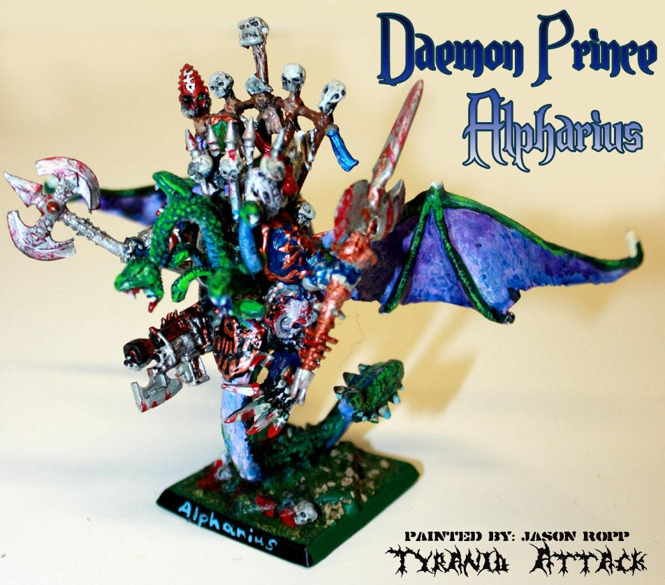 Alpha Legion Chapter Master. Daemon Prince, Alpharius, Chaos, Monster, Space, Space Marines