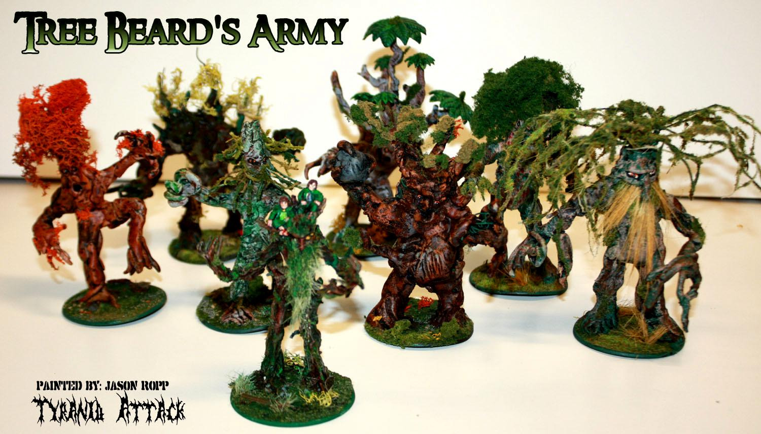28mm, Battle, Conversion, Custoim, Ent, Ents, Force, Forces, Good, Hobbit, Lord, Miniature, Of, Rings, The, Treebeard