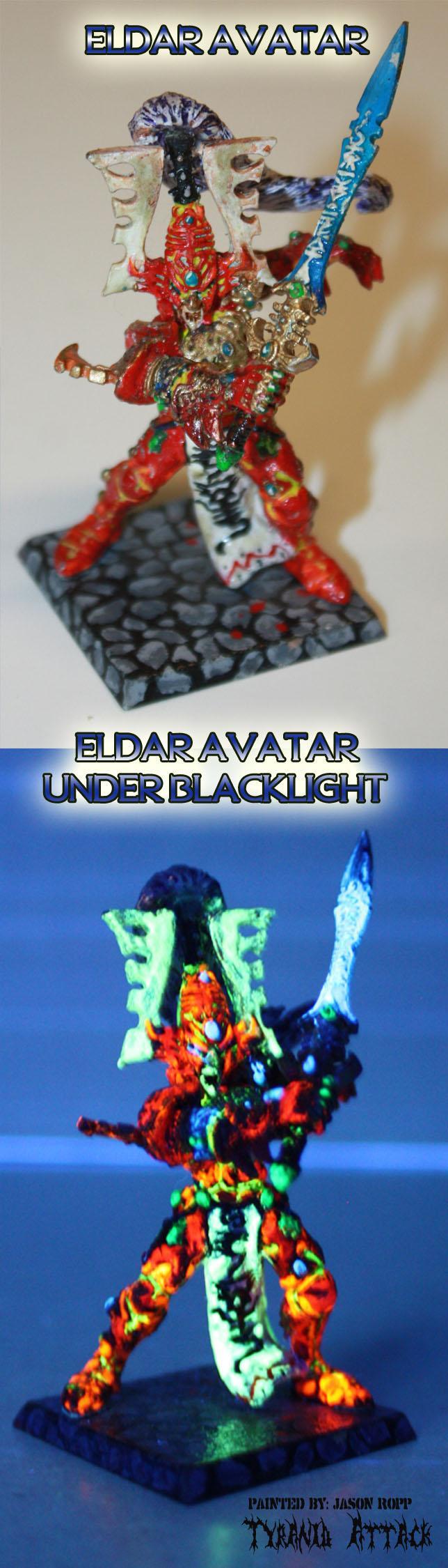 Attack, Avatar, Blacklight, Eldar, Miniature, Tyranids