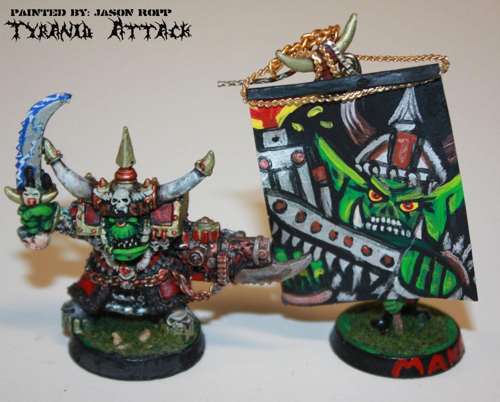 Attack, Boss, Ghazghkull Thraka, Miniature, Orks, Thraka, Tyranids, Warhammer 40,000, Warhammer Fantasy