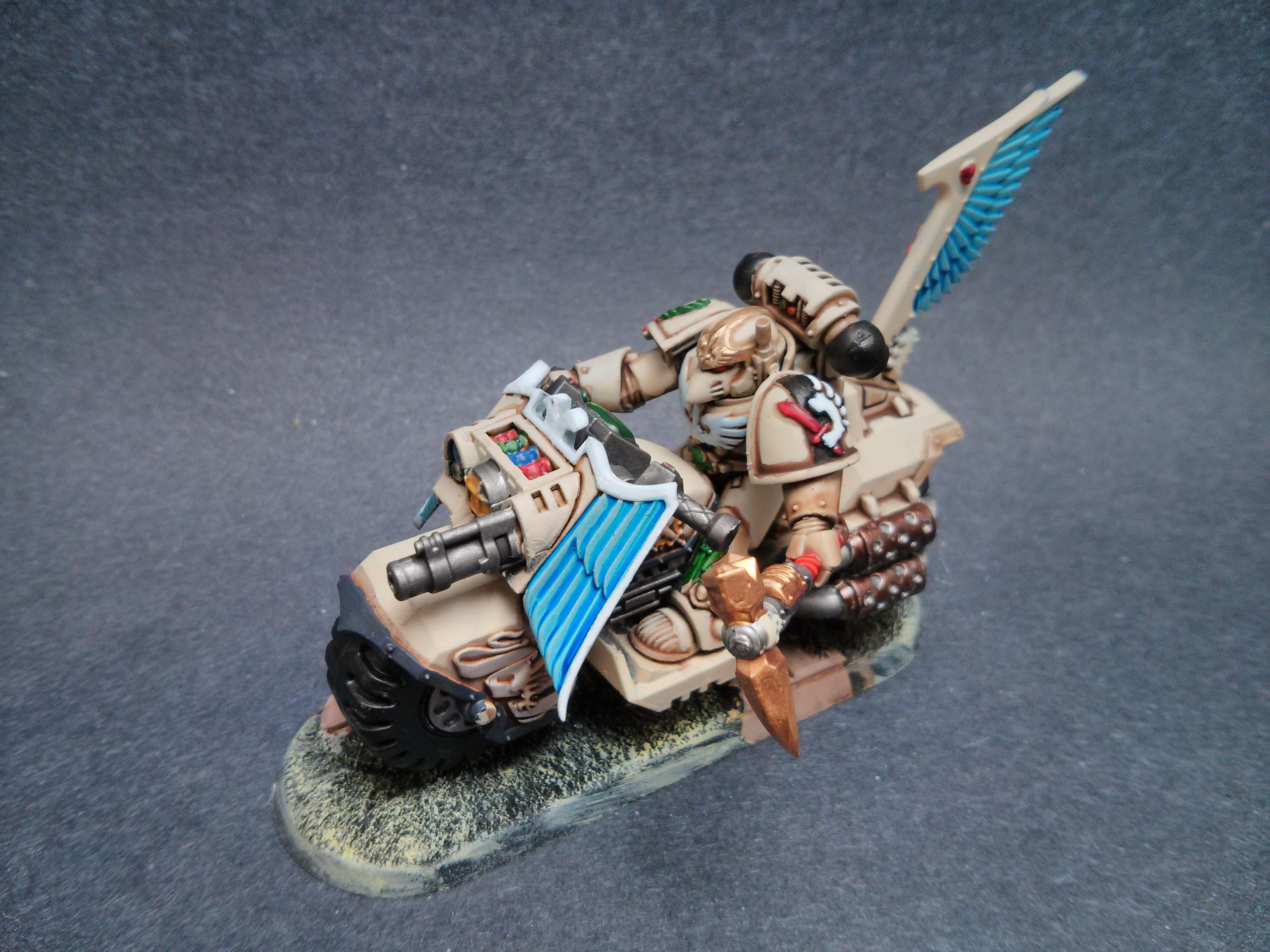 One of the Ravenwing Knight that is almost finished