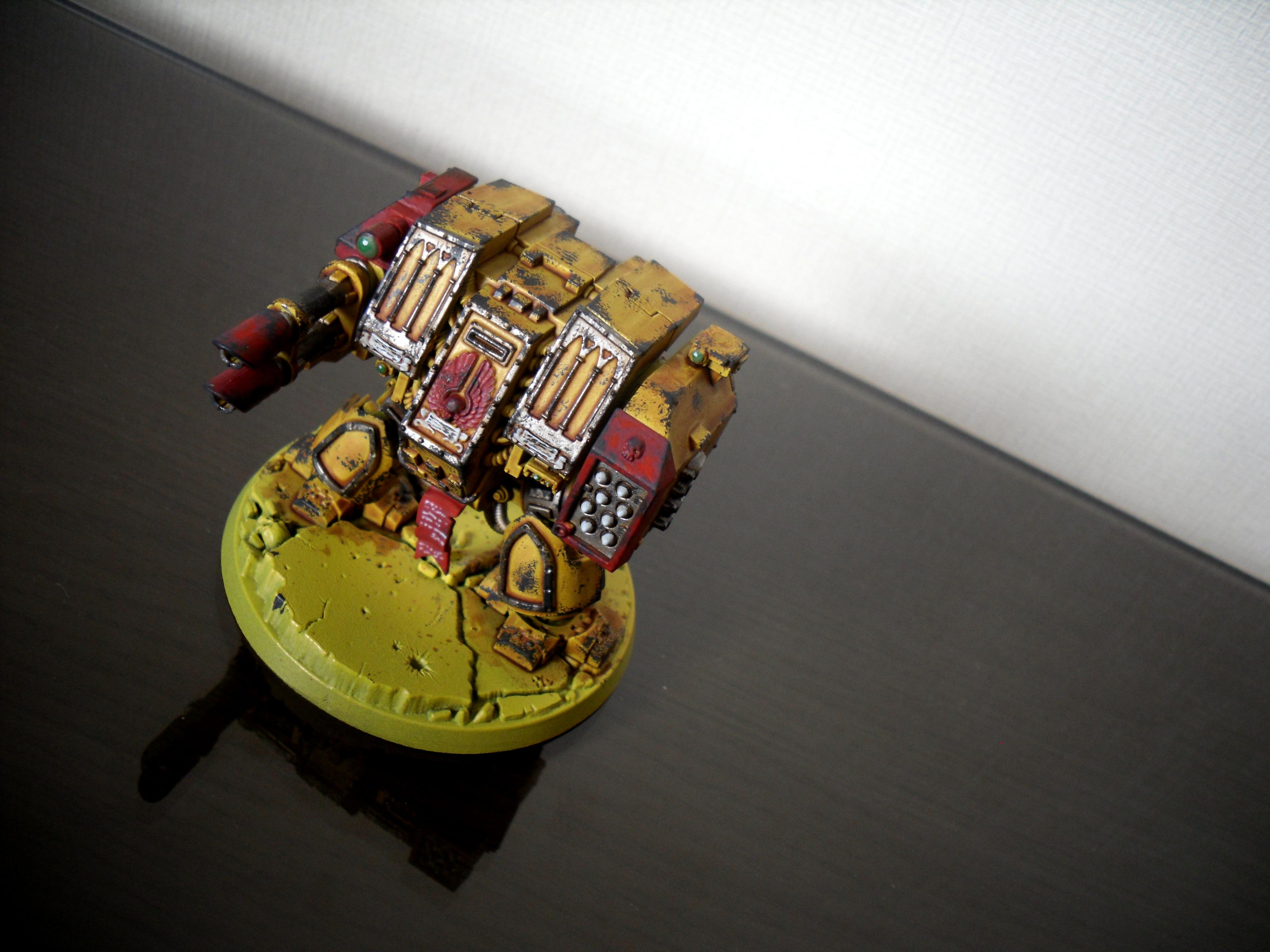 Dreadnought, Imperial Fists, Space Marines, Yellow