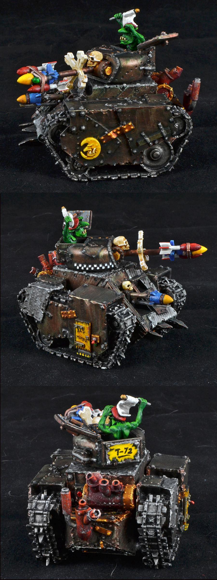 Bad Moons, Grot Tank, Orks, Warhammer 40,000, Work In Progress