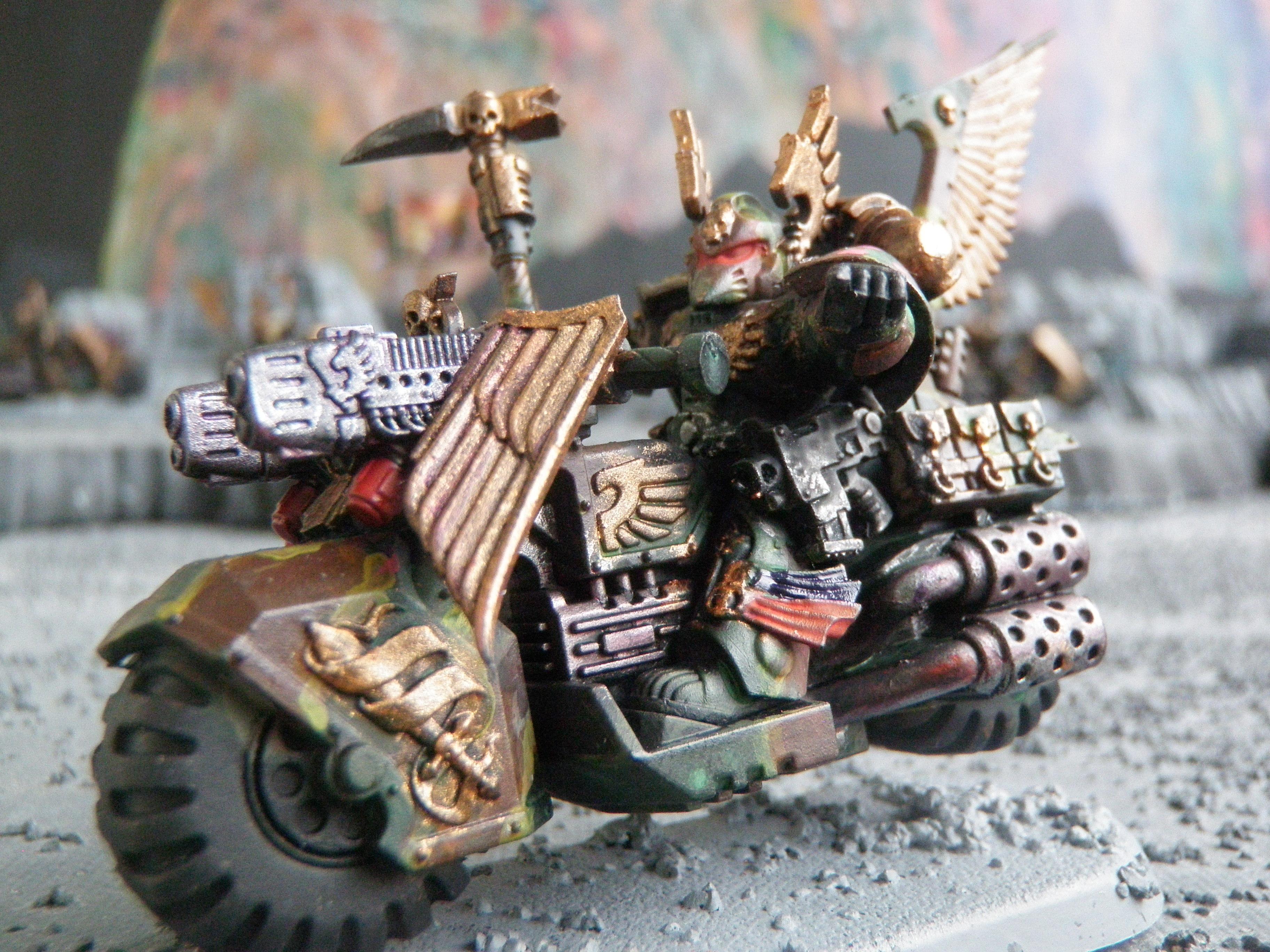 Black Knight, Camouflage, Dark Angels, Ravenwing Command Squad