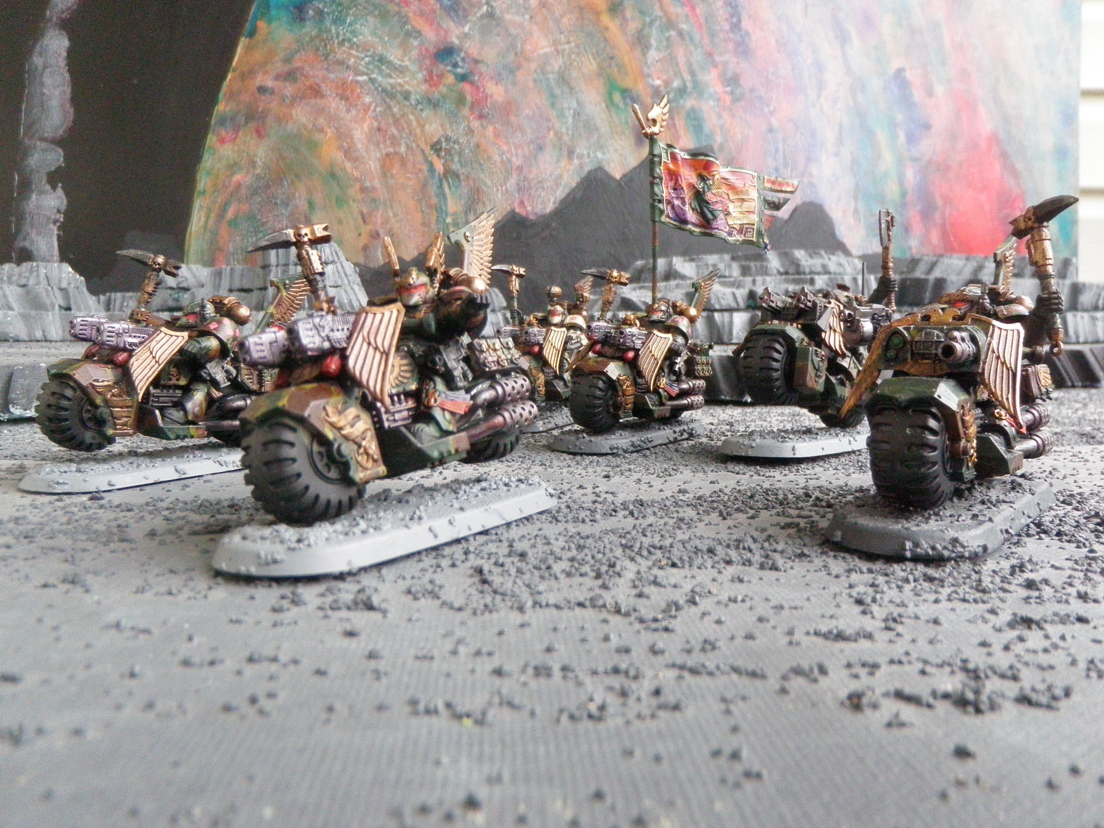 Camouflage, Dark Angels, Gas Giant, Ravenwing Command Squad