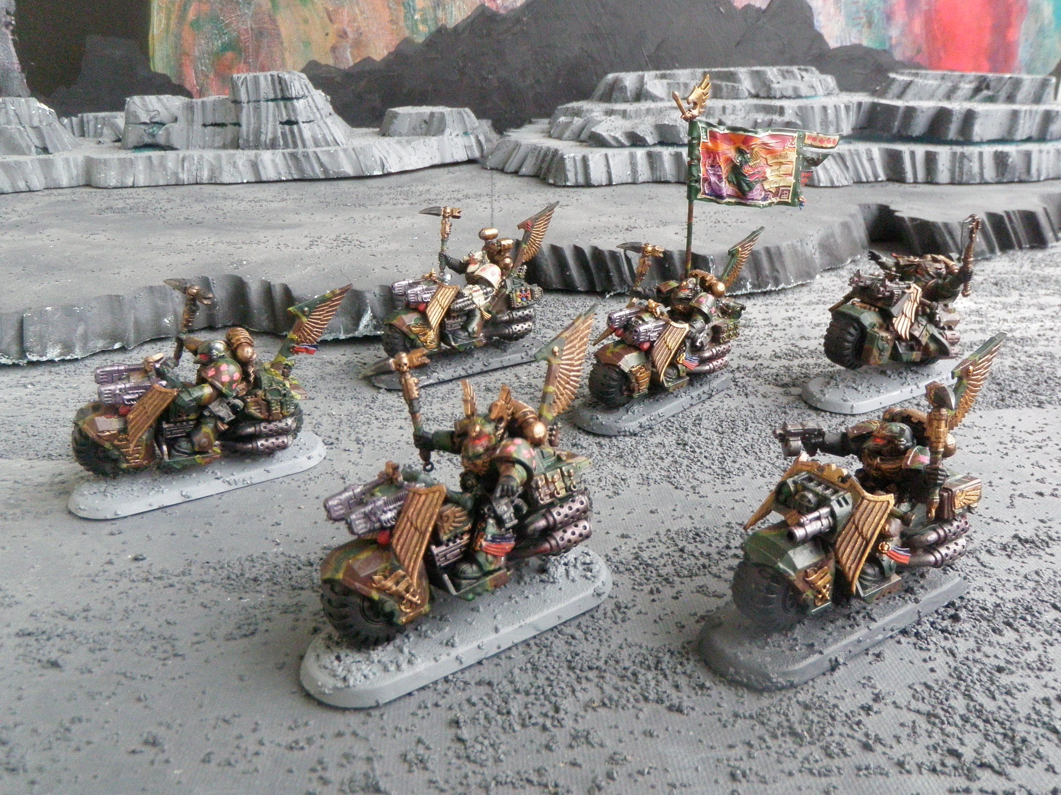 Camouflage, Dark Angels, Ravenwing Command Squad