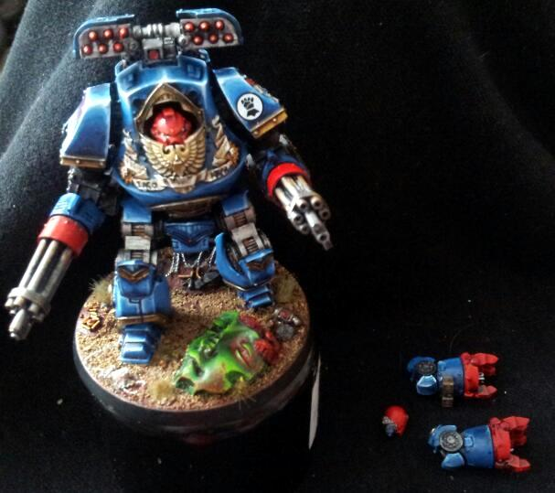 Contmeptor, Crimson Fist, Dreadnought, Space Marines