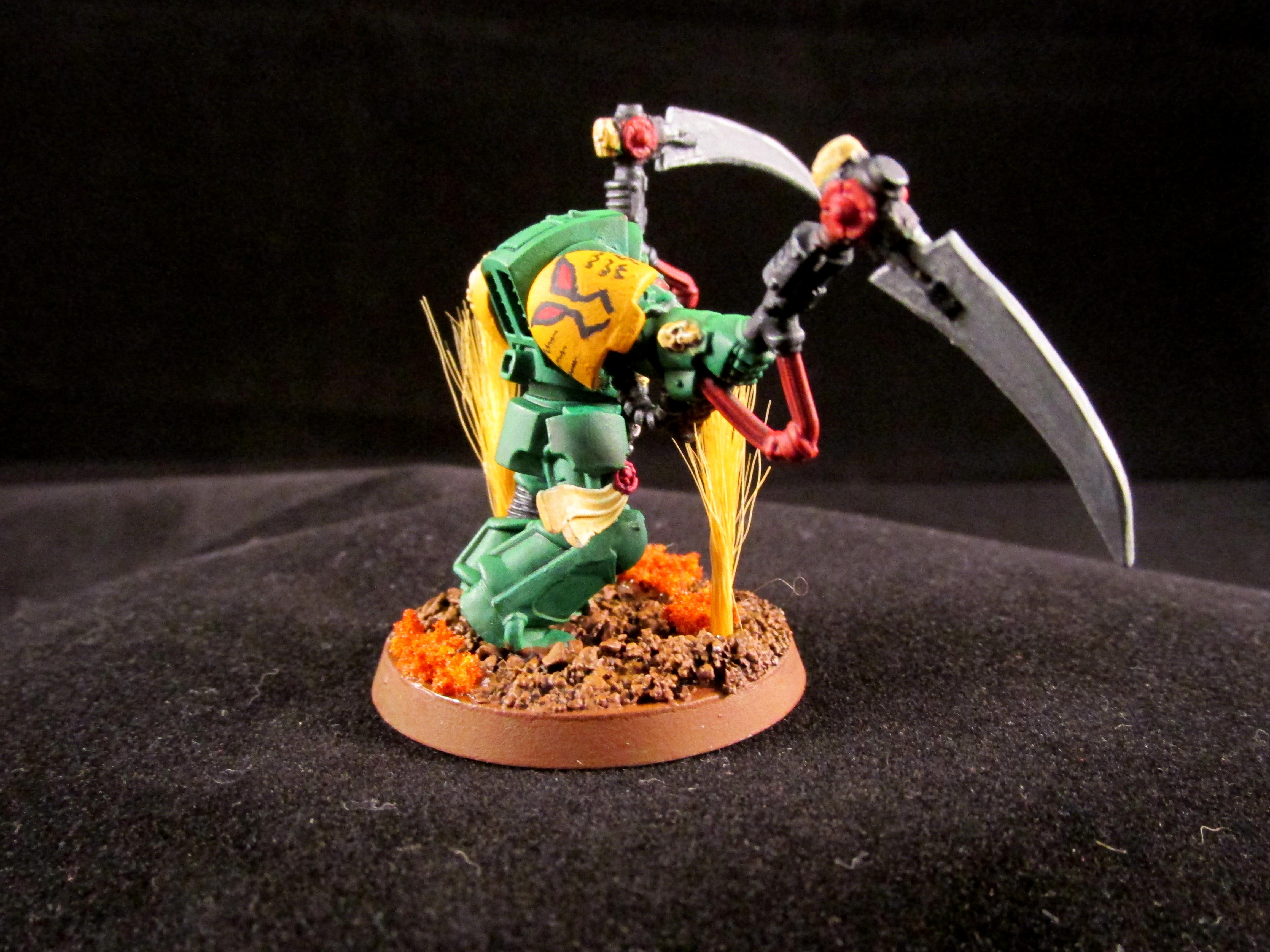 Mantis Maker, Mantis Warrior, Scythe, Terminator Armor
