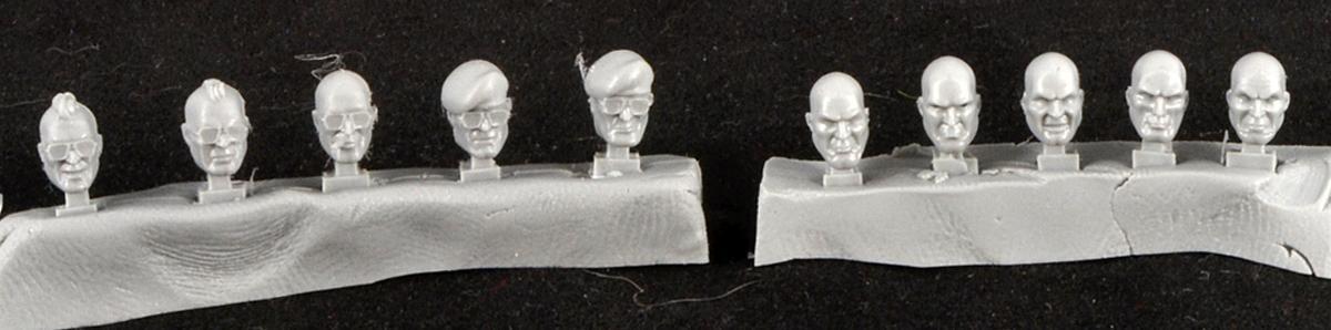 Heads, Human, Mad Robot Miniatures, Warhammer 40,000
