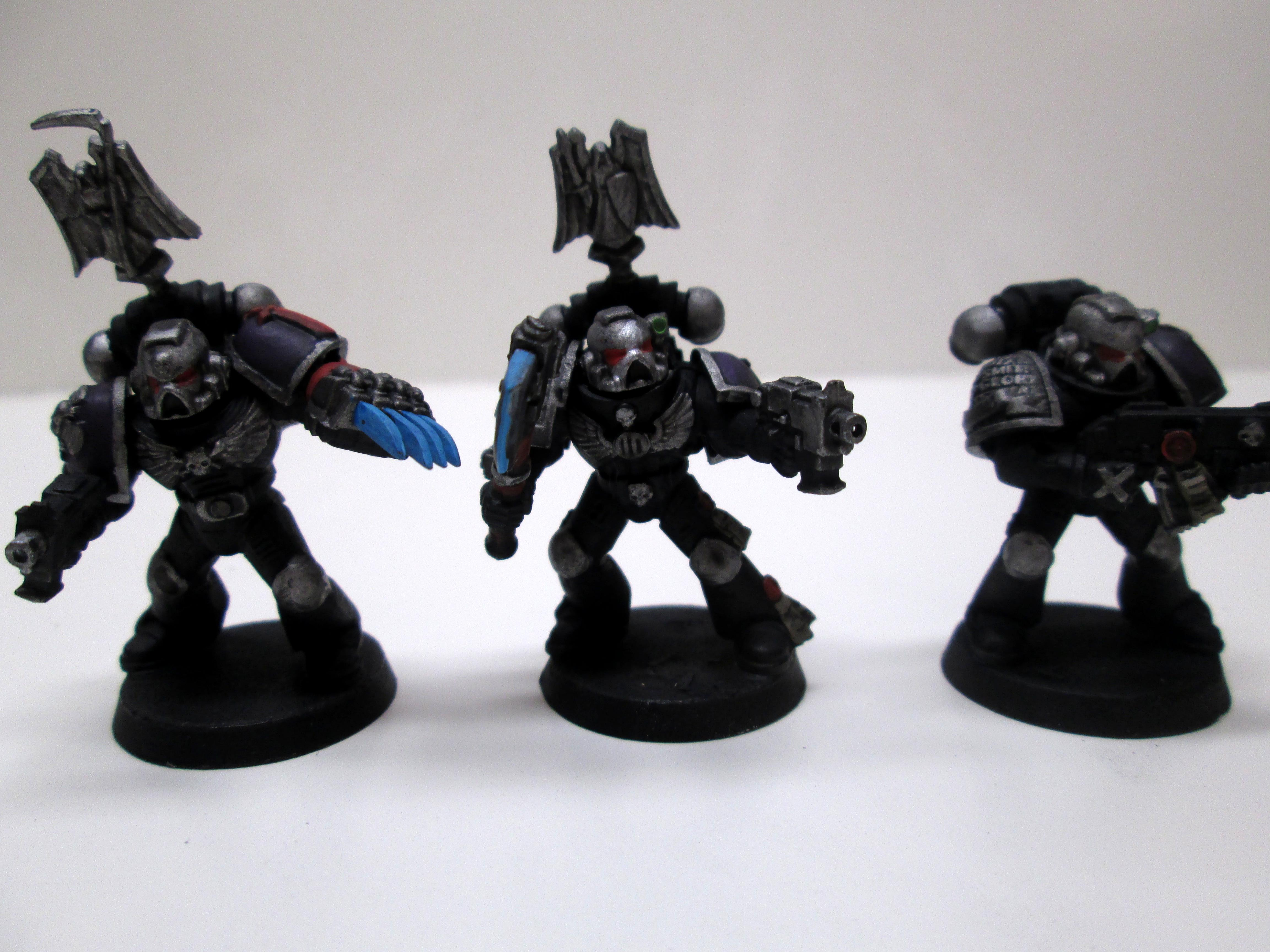 Bolter, Lightning Claw, Minis, Painted, Power Axe, Space Marines, Veteran, Warhammer 40,000