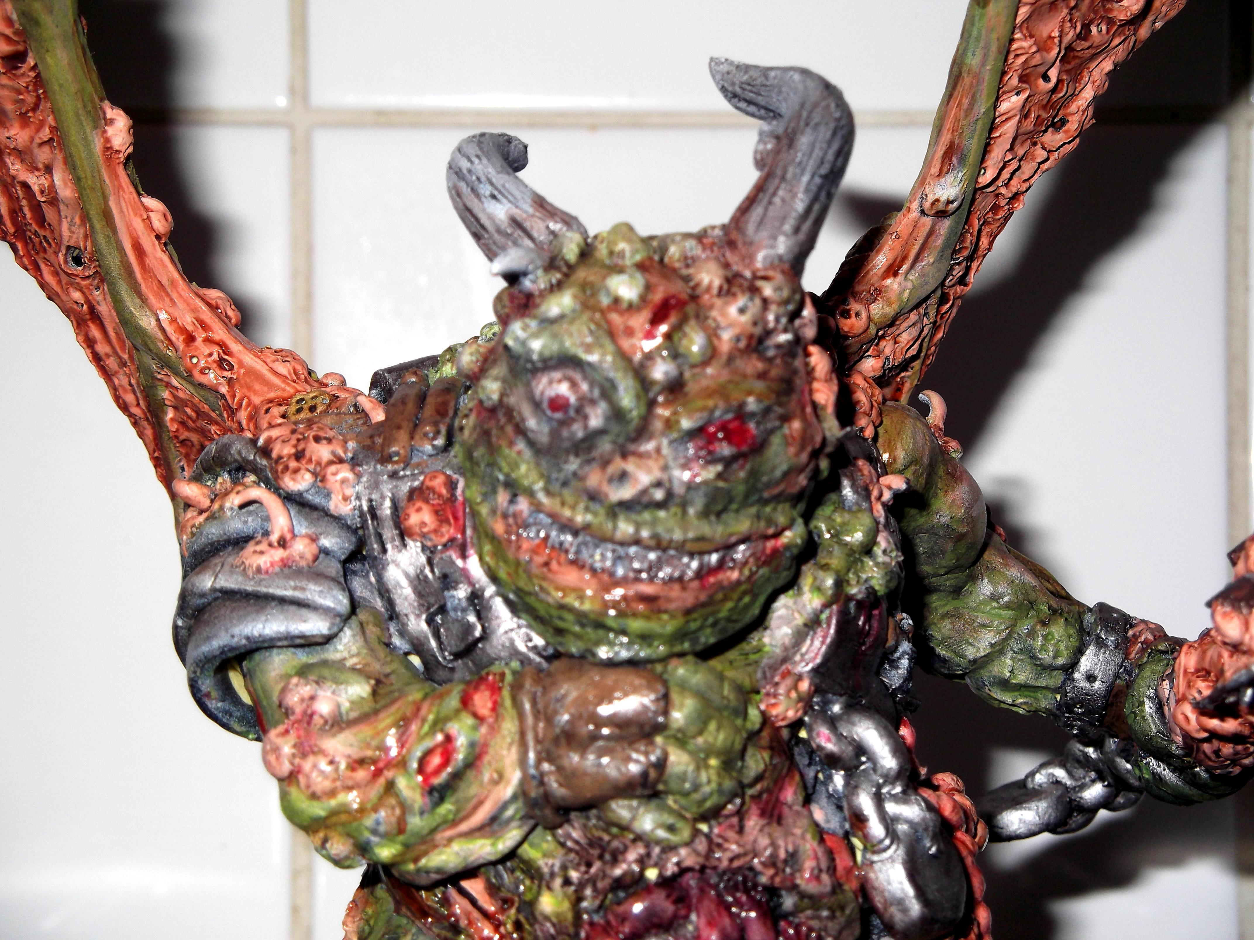 Black Mace, Chaos, Conversion, Daemon Prince, Daemons, Nurgle, Scratch Build, Sculpted, Sculpting, Warhammer 40,000, Winged