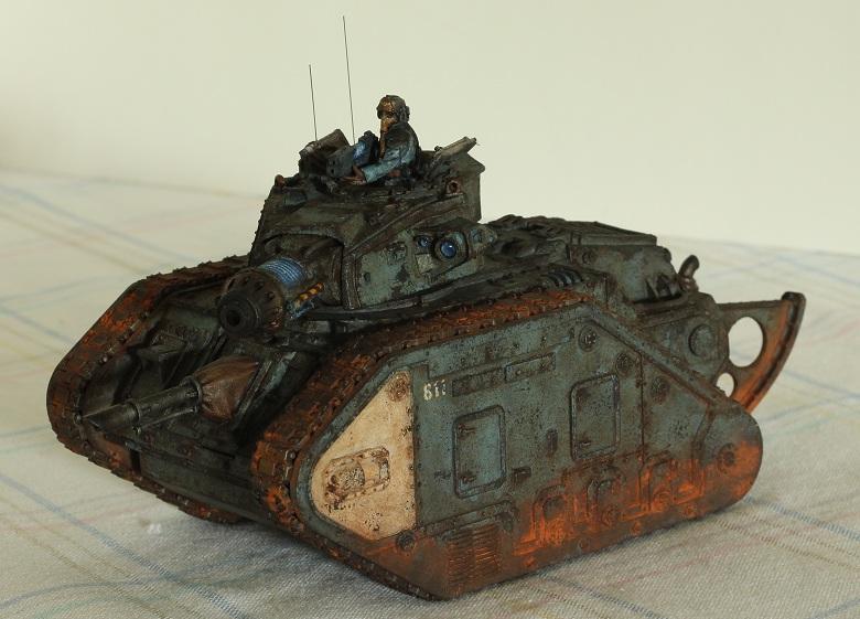 Death Korps of Krieg, Leman Russ, Tank, Weathered