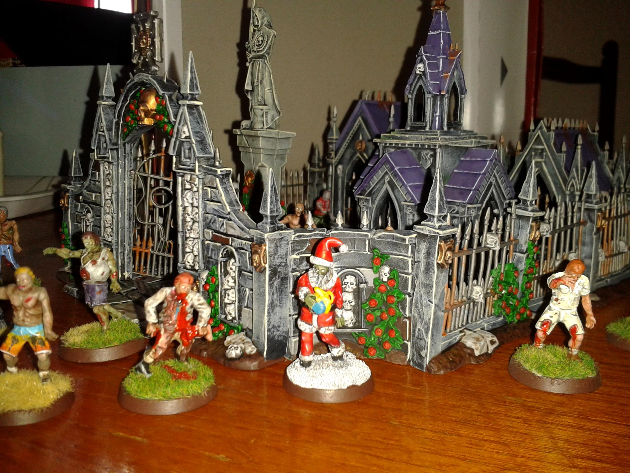 Garden, Morr, Santa Claus, Undead, Zombie