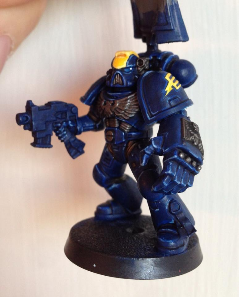 Blue, Death, Death Strike, Layering, Lightning, Non Mainstream, Rainbow Warriors, Space Marines, Strike, Sweden, Tabletop Quality, Warhammer 40,000, Wash, Yellow