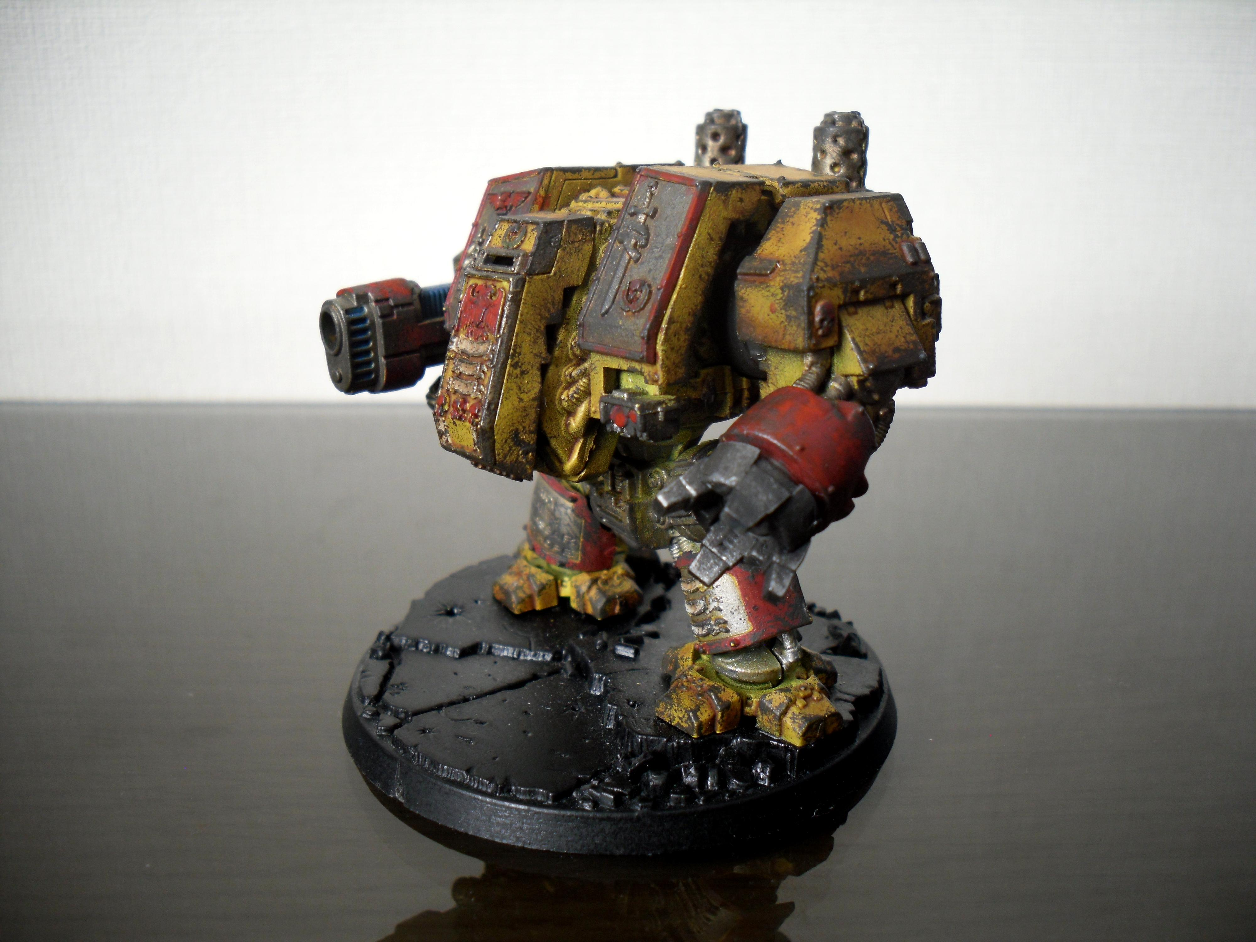 Imperial Fists, Space Marines, Venerable Dreadnought, Yellow
