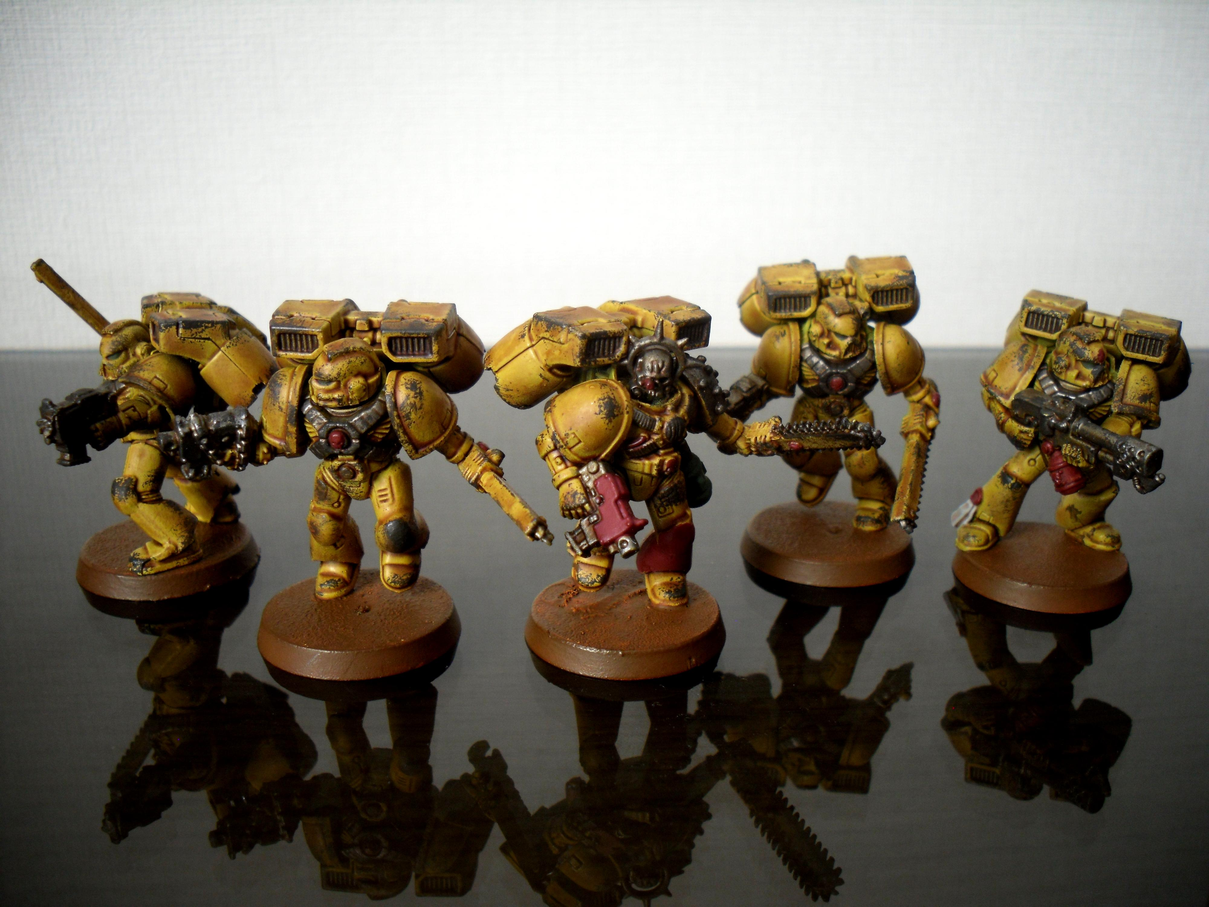 Assault Squad, Imperial Fists, Space Marines, Yellow