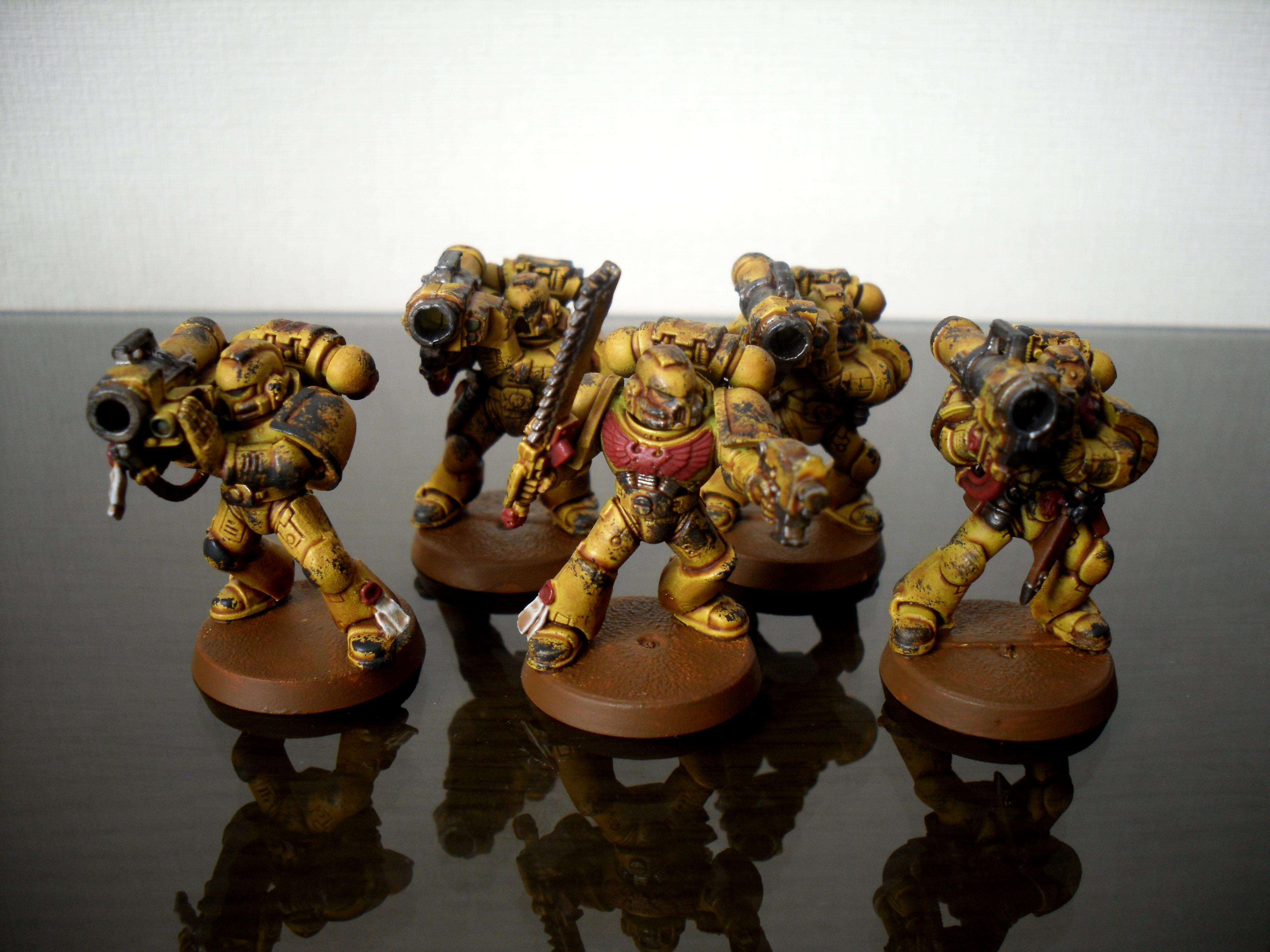 Devastator Squad, Imperial Fists, Space Marines, Yellow