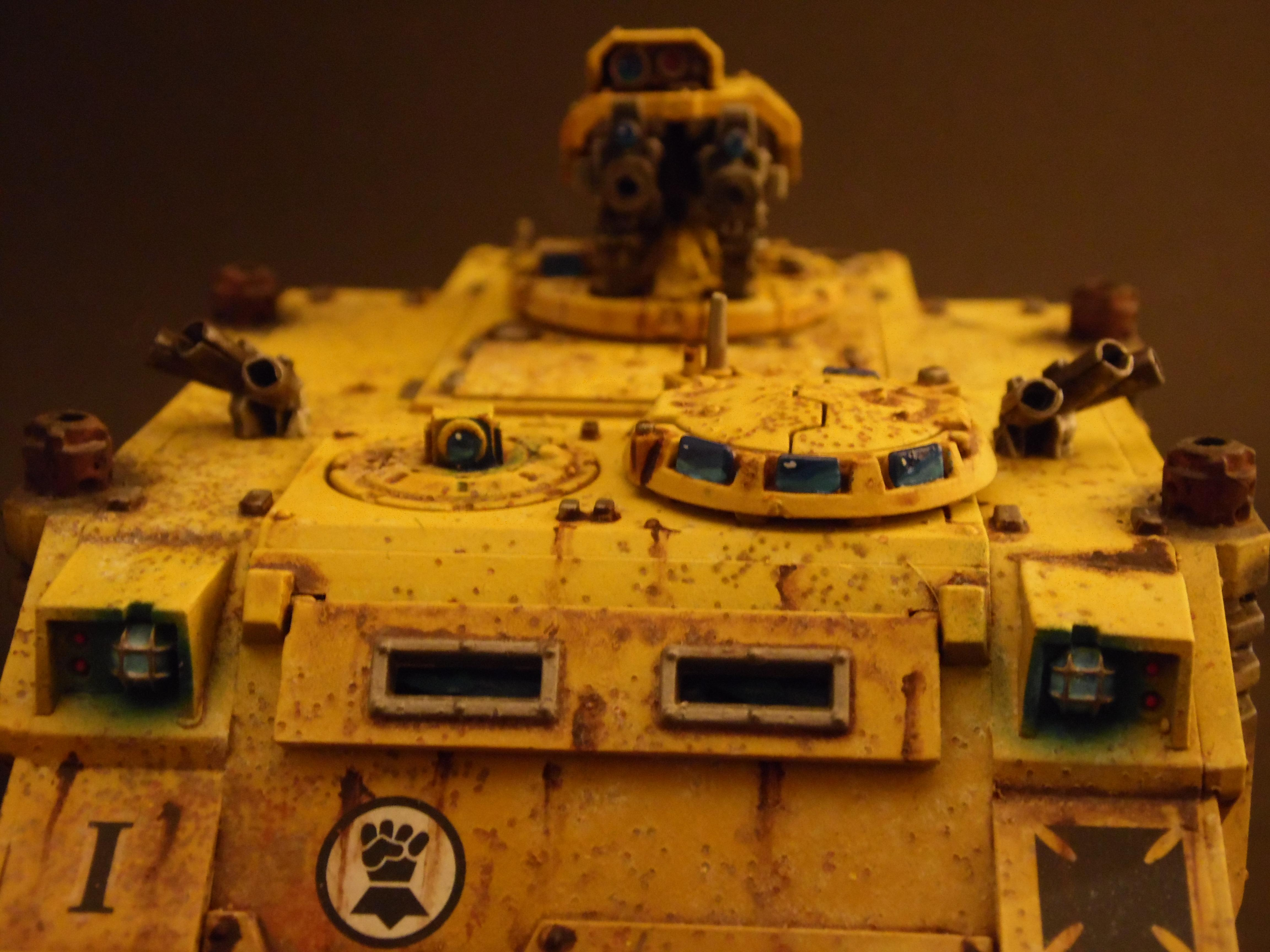Fist, Fist Razorback, Imperial, Painting, Rusty, Rustytankpainting, Tank, Warhammer 40,000