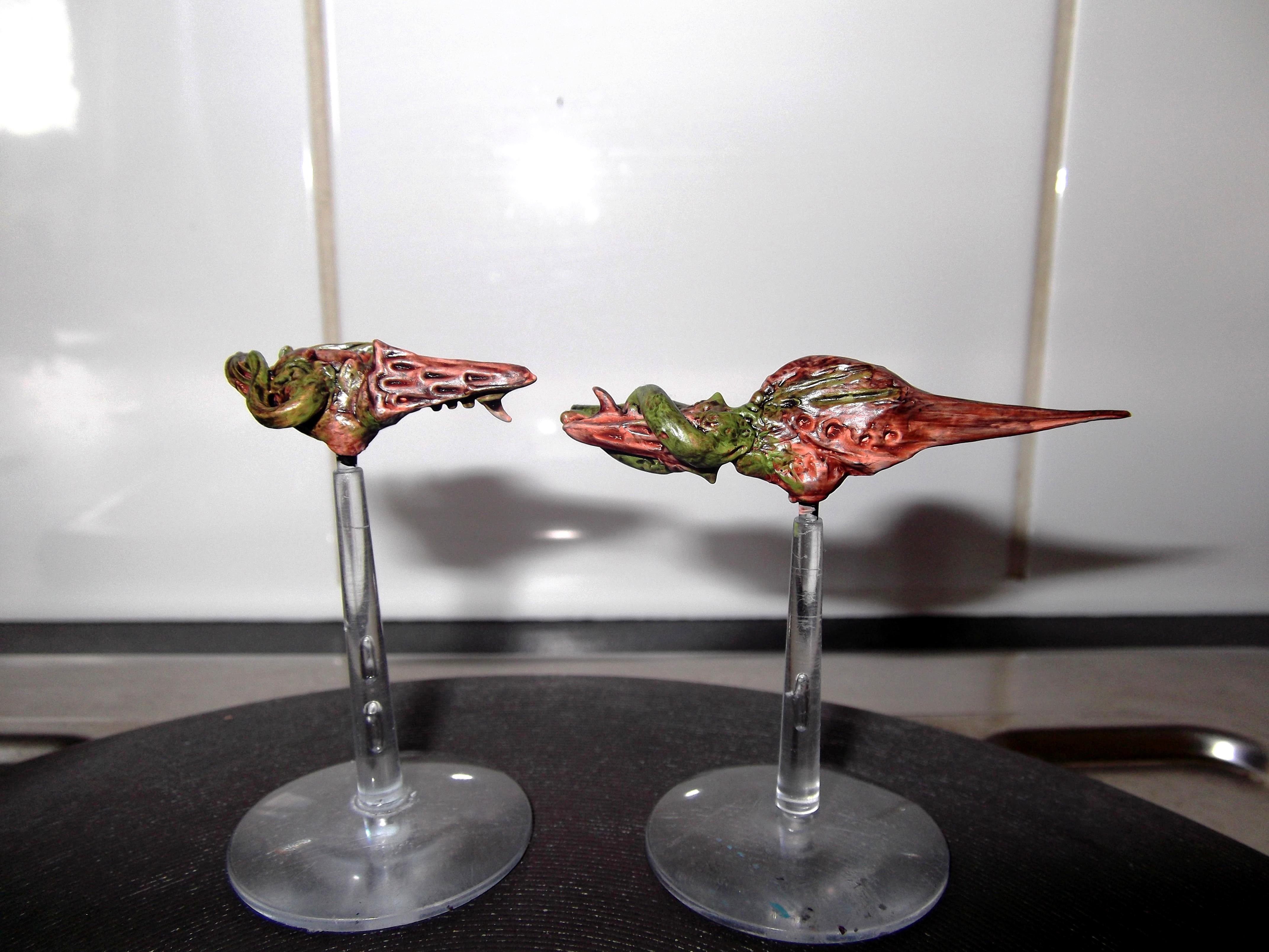 Battlefleet Gothic, Fleet, Greenstuff, Hive Ship, Scratch Build, Sculpting, Ships, Space, Tyranids, Warhammer 40,000