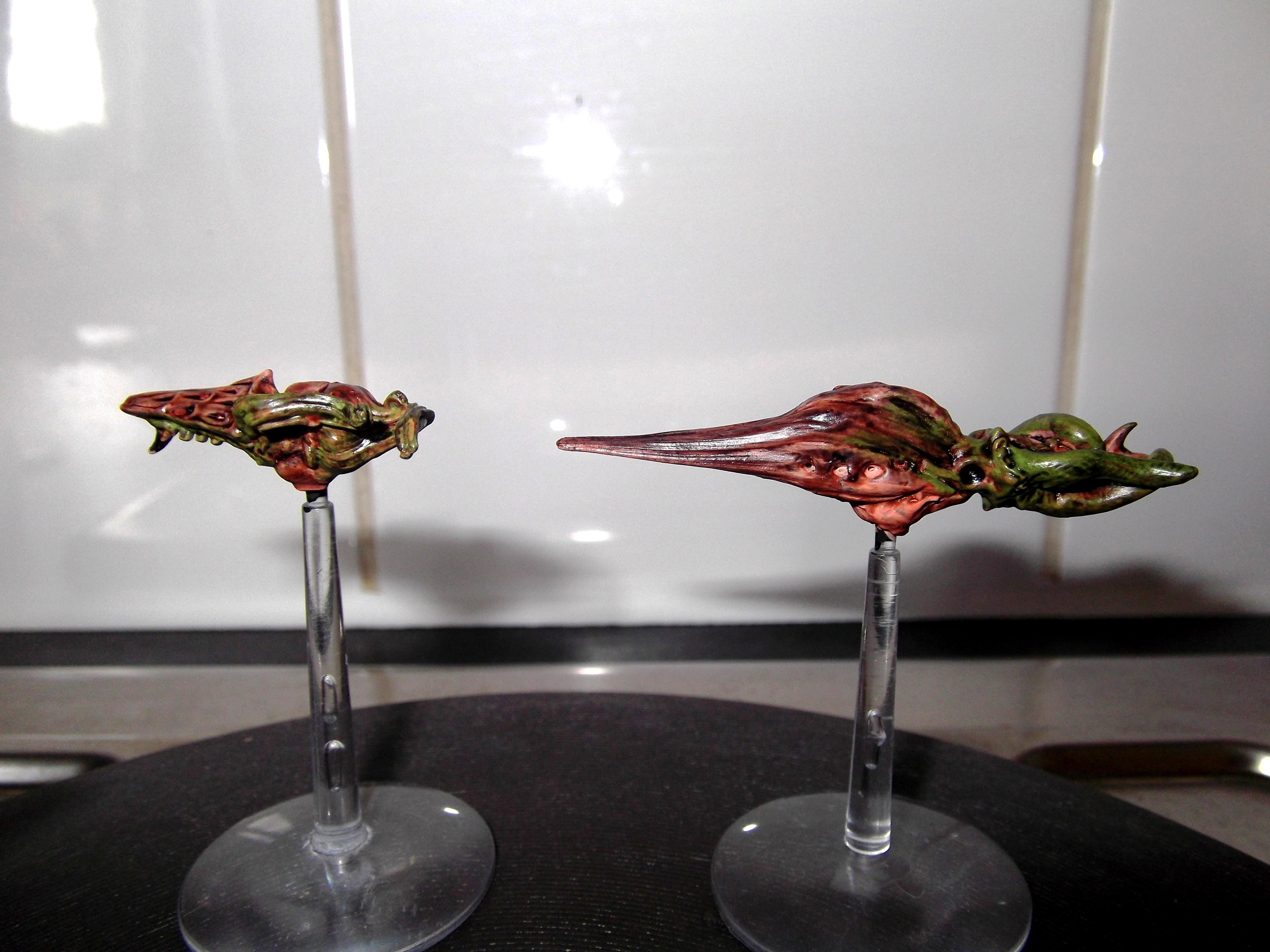 Battlefleet Gothic, Fleet, Greenstuff, Hive Ship, Scratch Build, Sculpting, Ships, Space, Tyranids, Warhammer 40,000