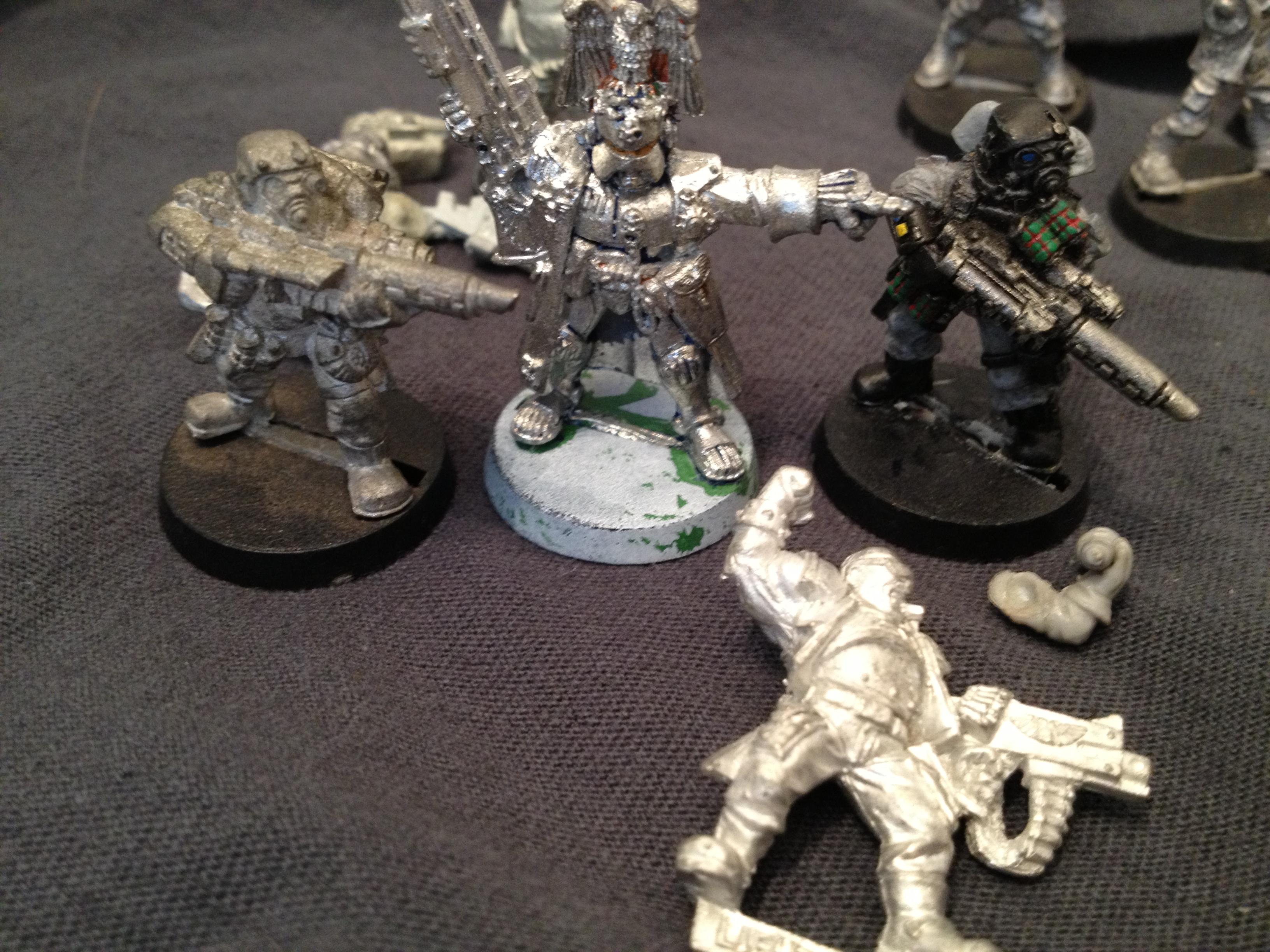 Adeptus Arbites with Stormtroopers and Catachan Sgt